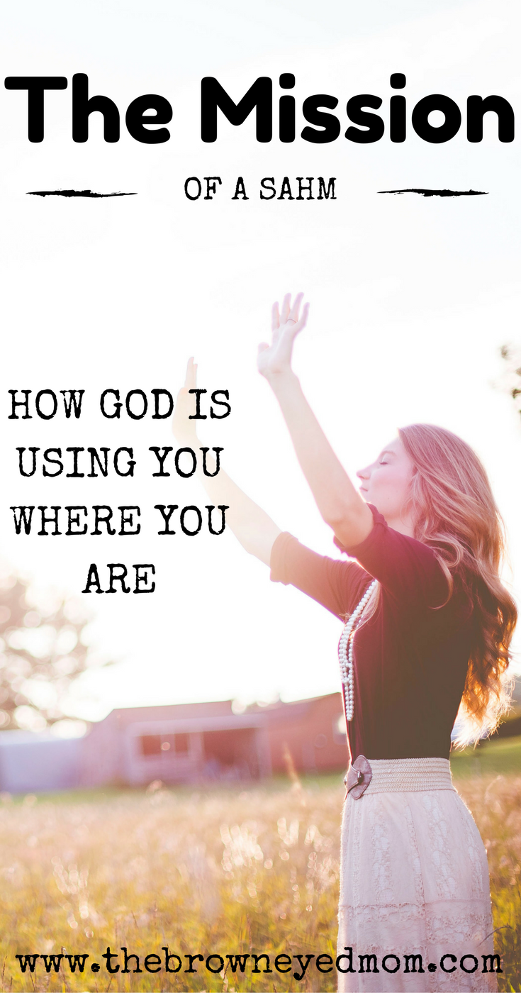 Do you sometimes feel like you have no idea what on Earth God is using you for as a SAHM?  Sometimes you have to realize, as I did, that God is using you where you are. Even if you don't think He is. #sahm #christianmom