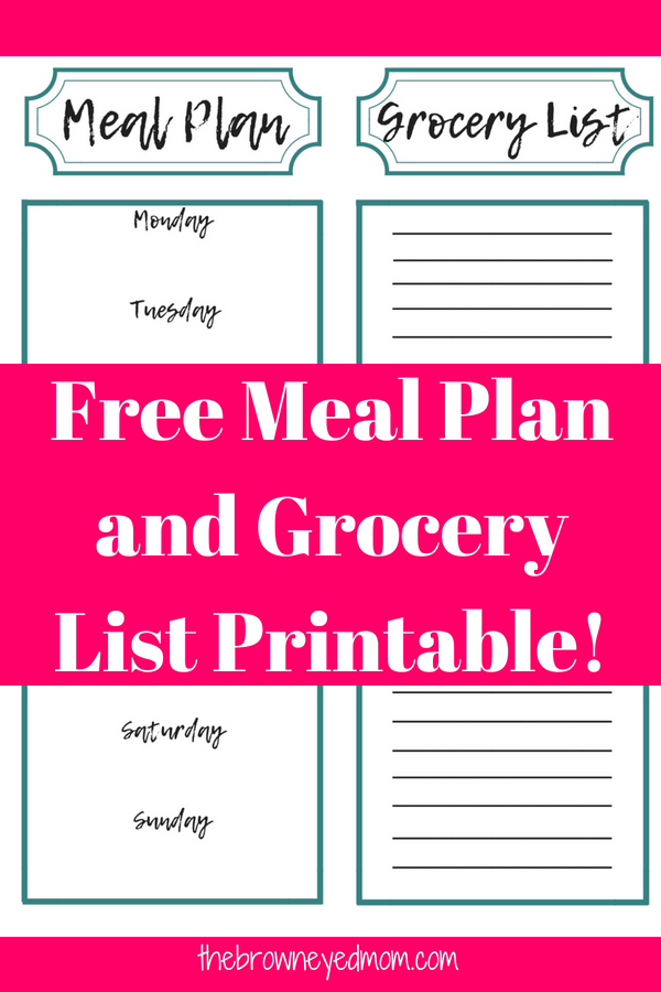 Do you stink at meal planning? Check out what essentials you need to be doing before you start your meal plan and get your free meal plan and grocery list printable! #mealplanning #grocerylist #organization #sahm