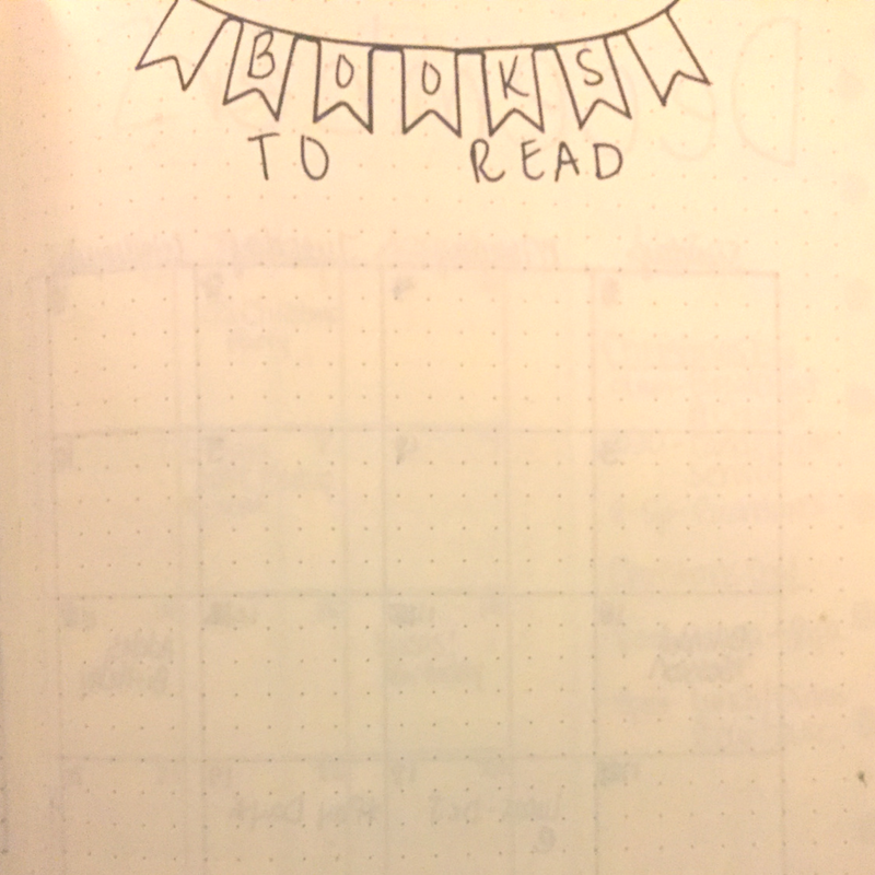 Habit tracking is a great way to visualize what is going on in your life! Tracking books I want to read helps me not feel overwhelmed trying to remember what I wanted to read next! #bulletjournal #habittracker #productivity #planning