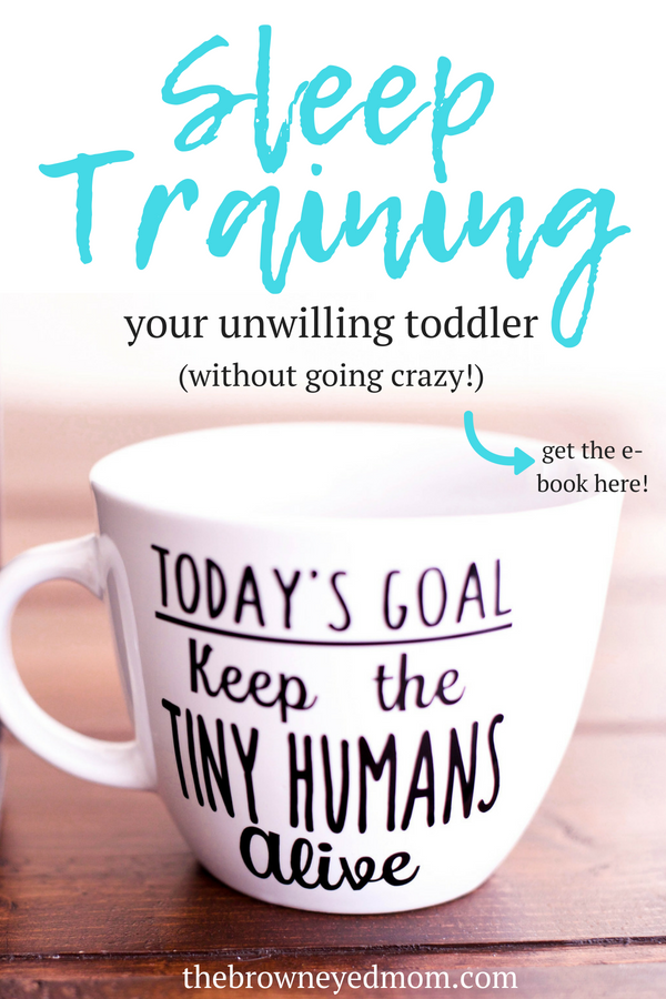 Toddlers can be a nightmare to sleep train. My son would not go to sleep on his own and no sleep training methods were working. So I put together a new plan using the parts of sleep training methods that did work and he finally did it! #sleeptraining #toddler #sahm #wahm #parenting #ebook
