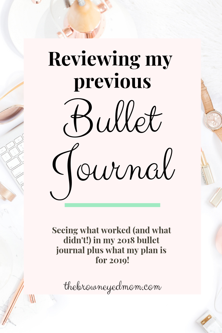 It's always helpful to take a look back at your bullet journal or planner and see what worked for you and what definitely didn't. Take a look at what worked for me in my 2018 bullet journal and what my plan is for 2019! #bulletjournal #bujo #planning #todolist #productivity #organization #plannersupplies #bujosupplies
