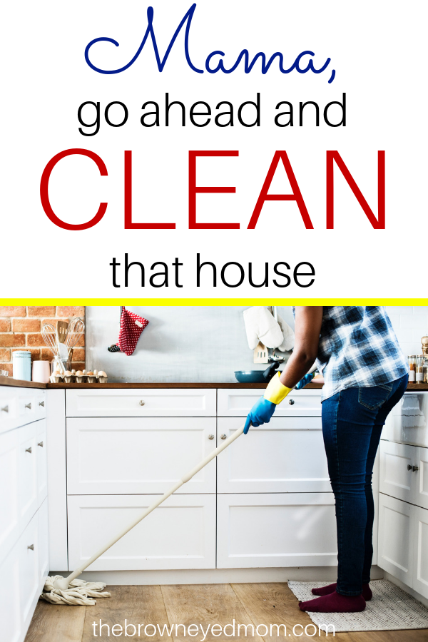 In a world where we are told to constantly enjoy every moment with our kids and neglect the house, it can be hard when the mess stresses you out. Mama, go ahead and clean that house if it makes you feel better. You won't be missing out on your kids if you can enjoy them when the mess is cleaned up! #sahm #motherhood #cleaning #cleanthemess #selfcare
