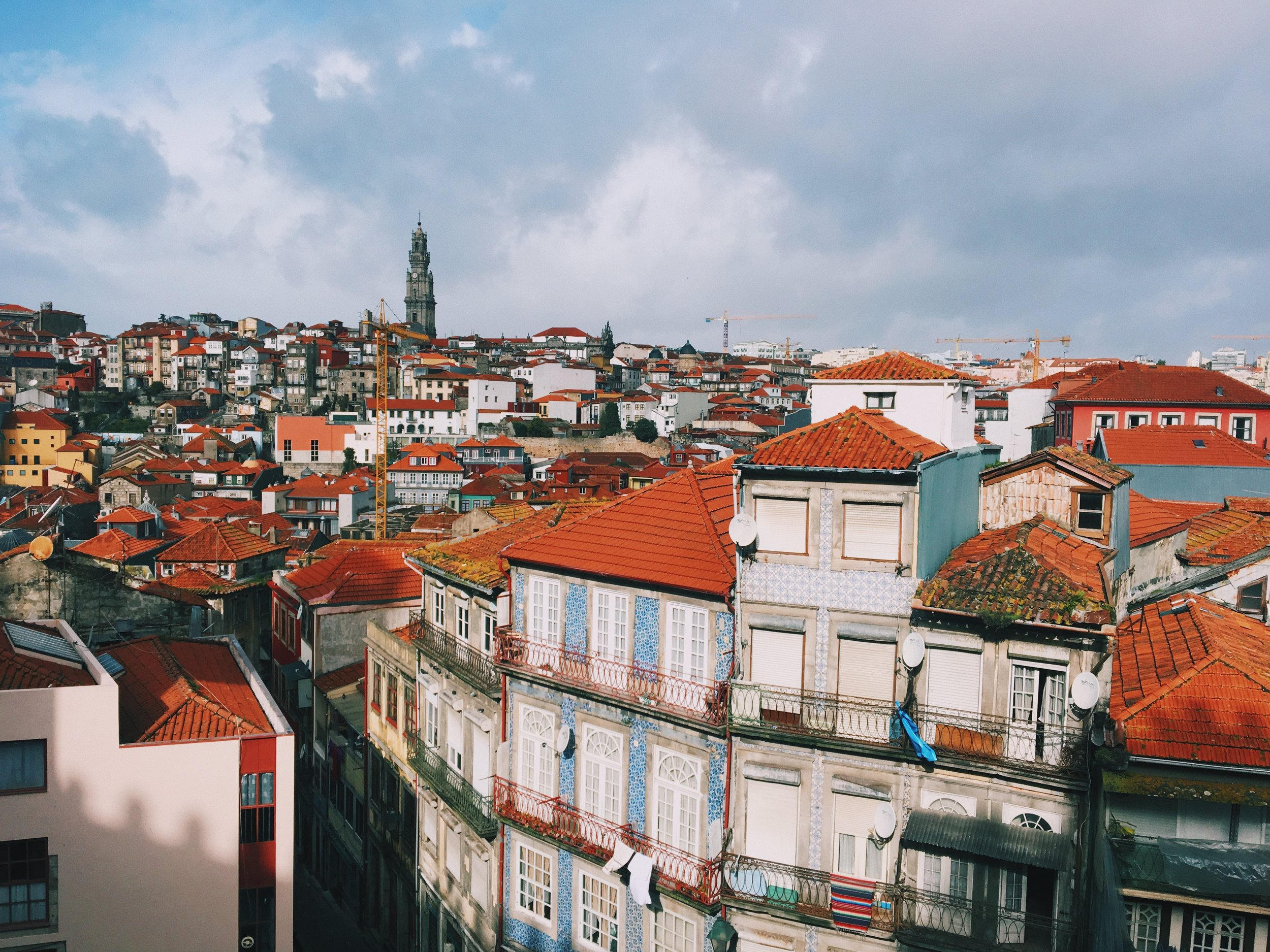 Porto is a hilly city.