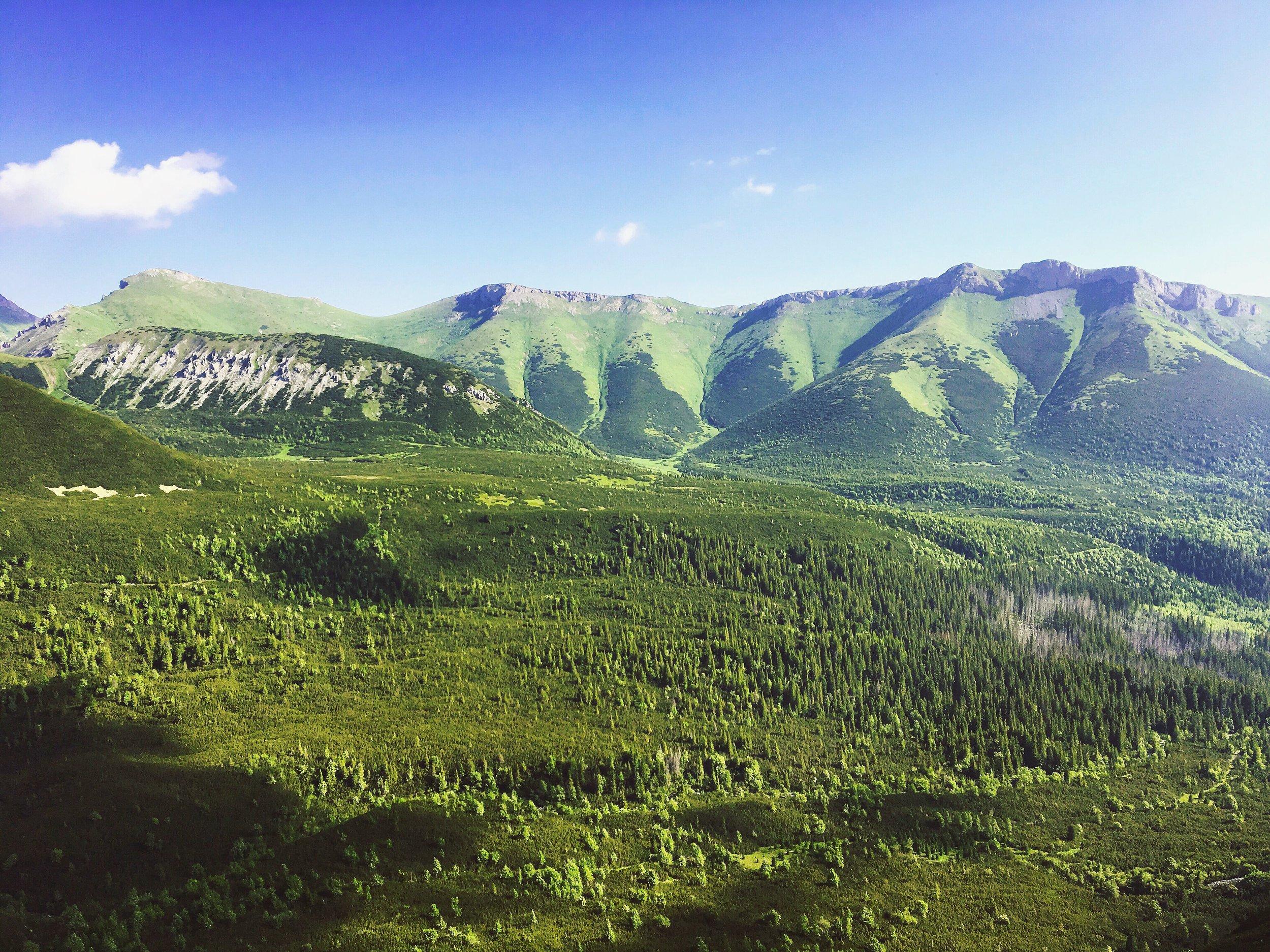The view on the valley as you climb Veľká Svišťovka