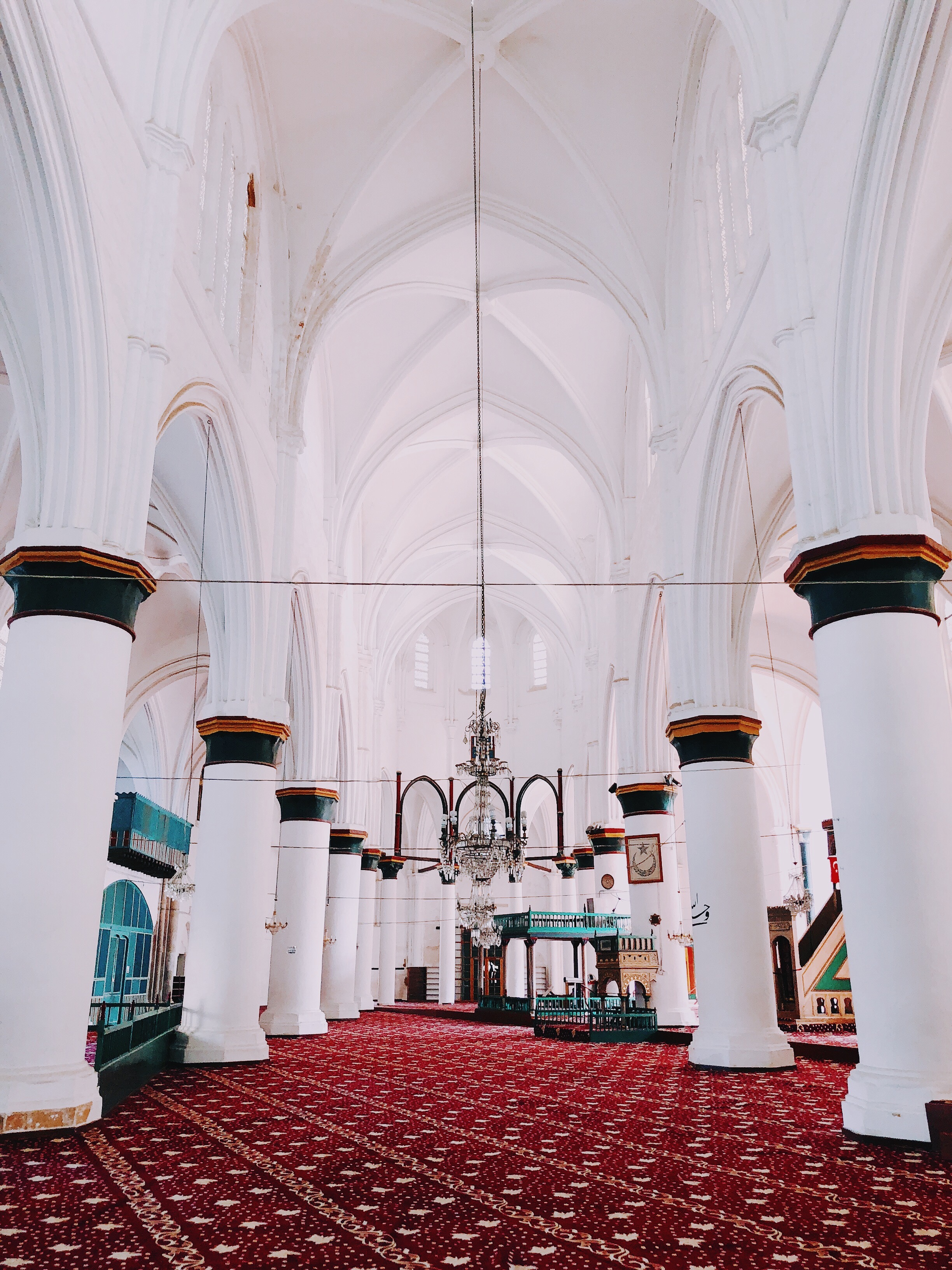 That's what a cathedral reconverts in a mosque looks like.