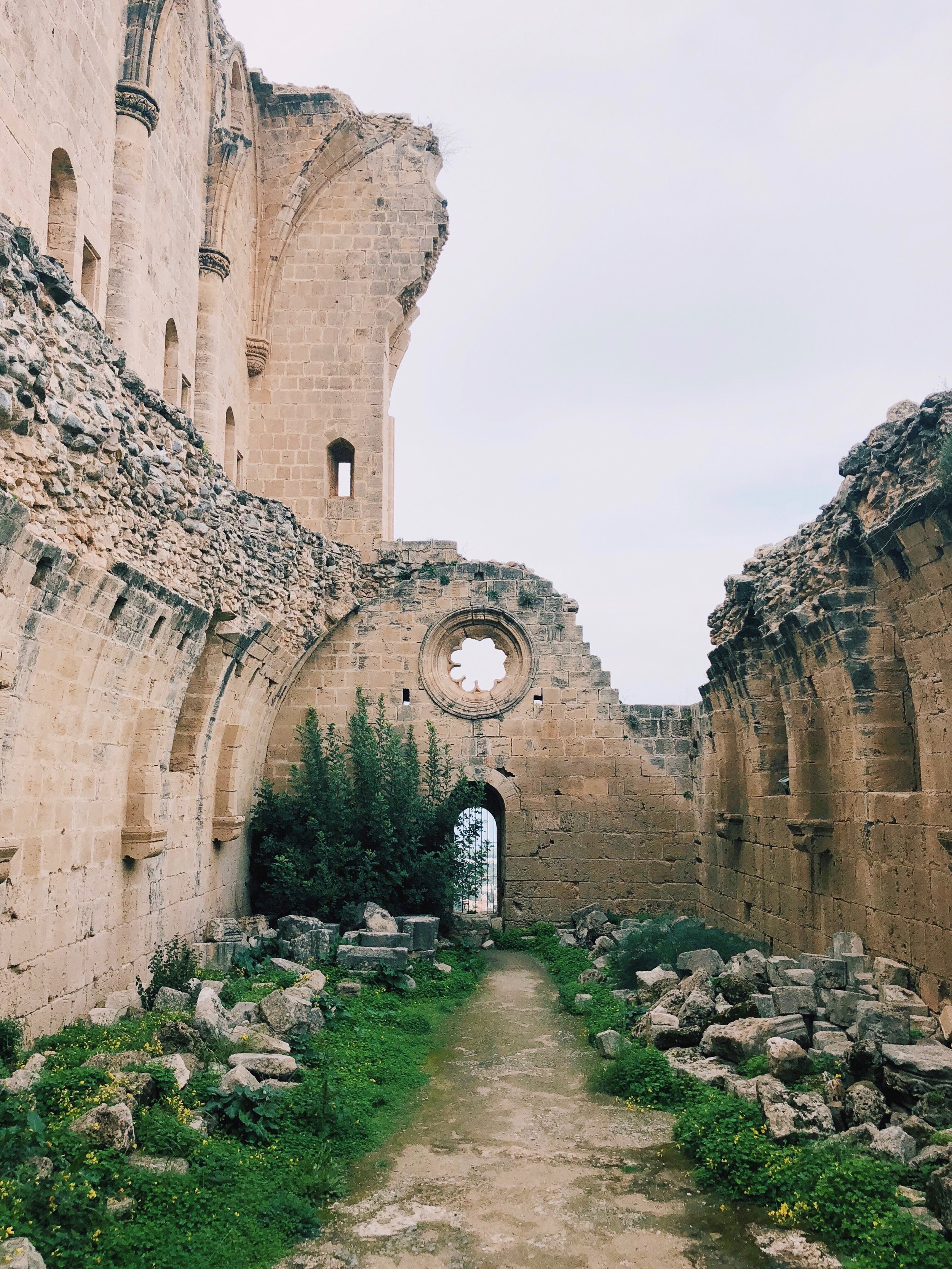 The beautiful ruins of the abbey of Bellapais.