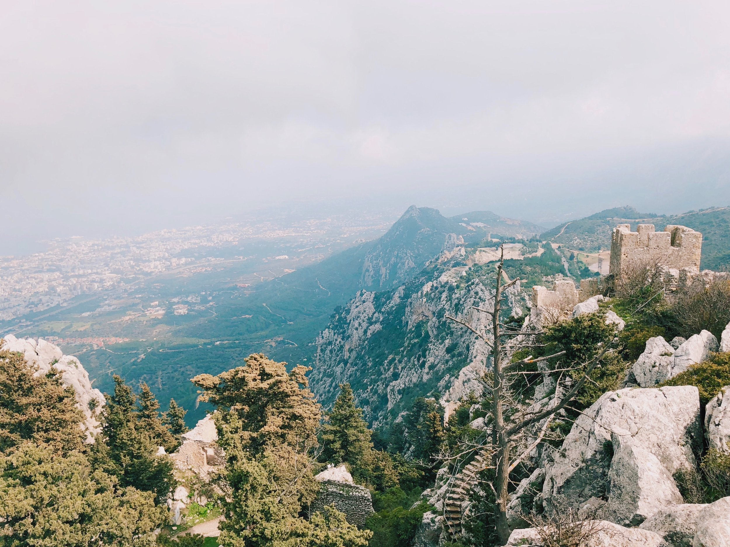 The view from the highest part of Saint Hilarion Castle.