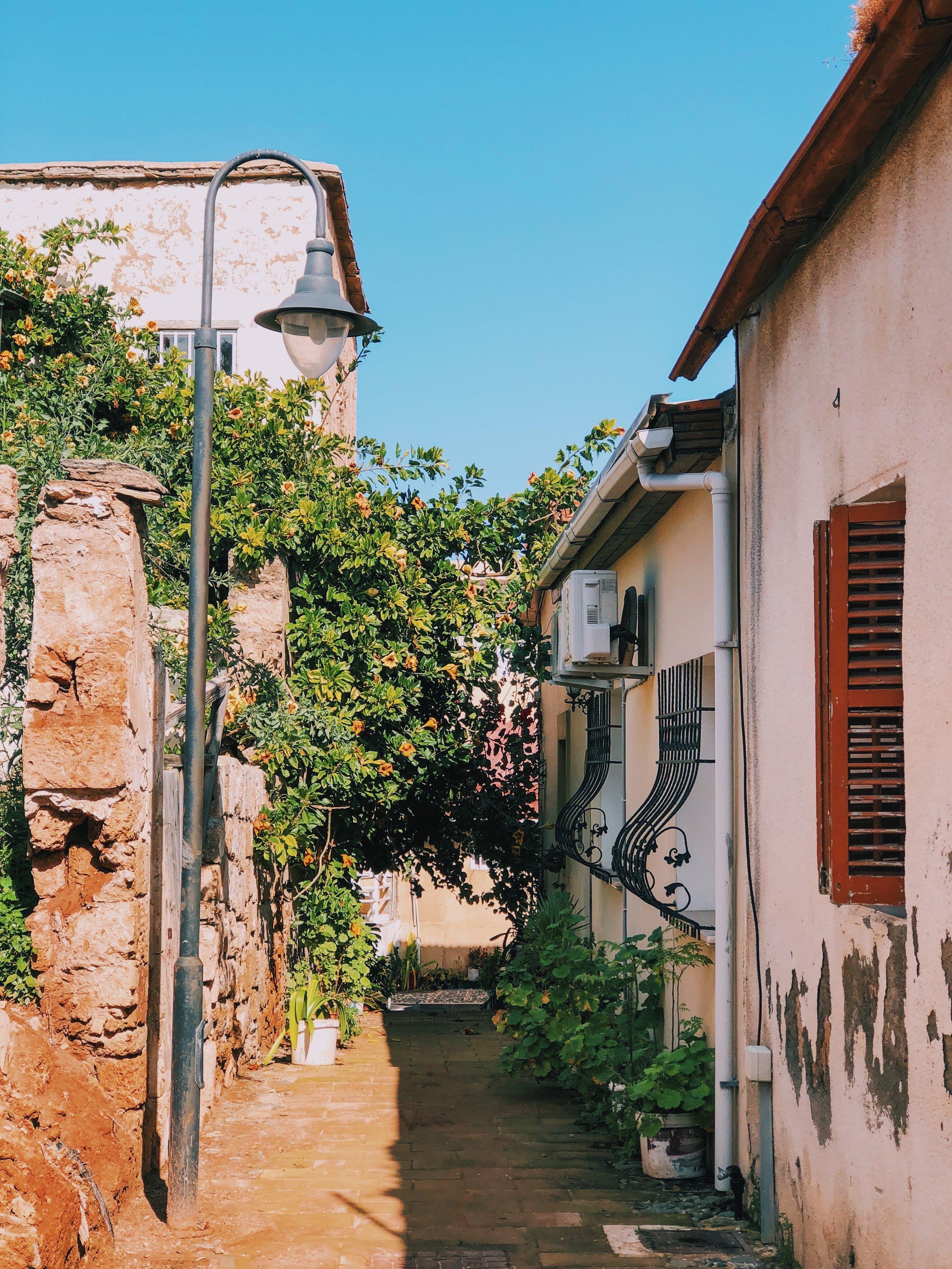 Strolling in Famagusta's narrow streets.