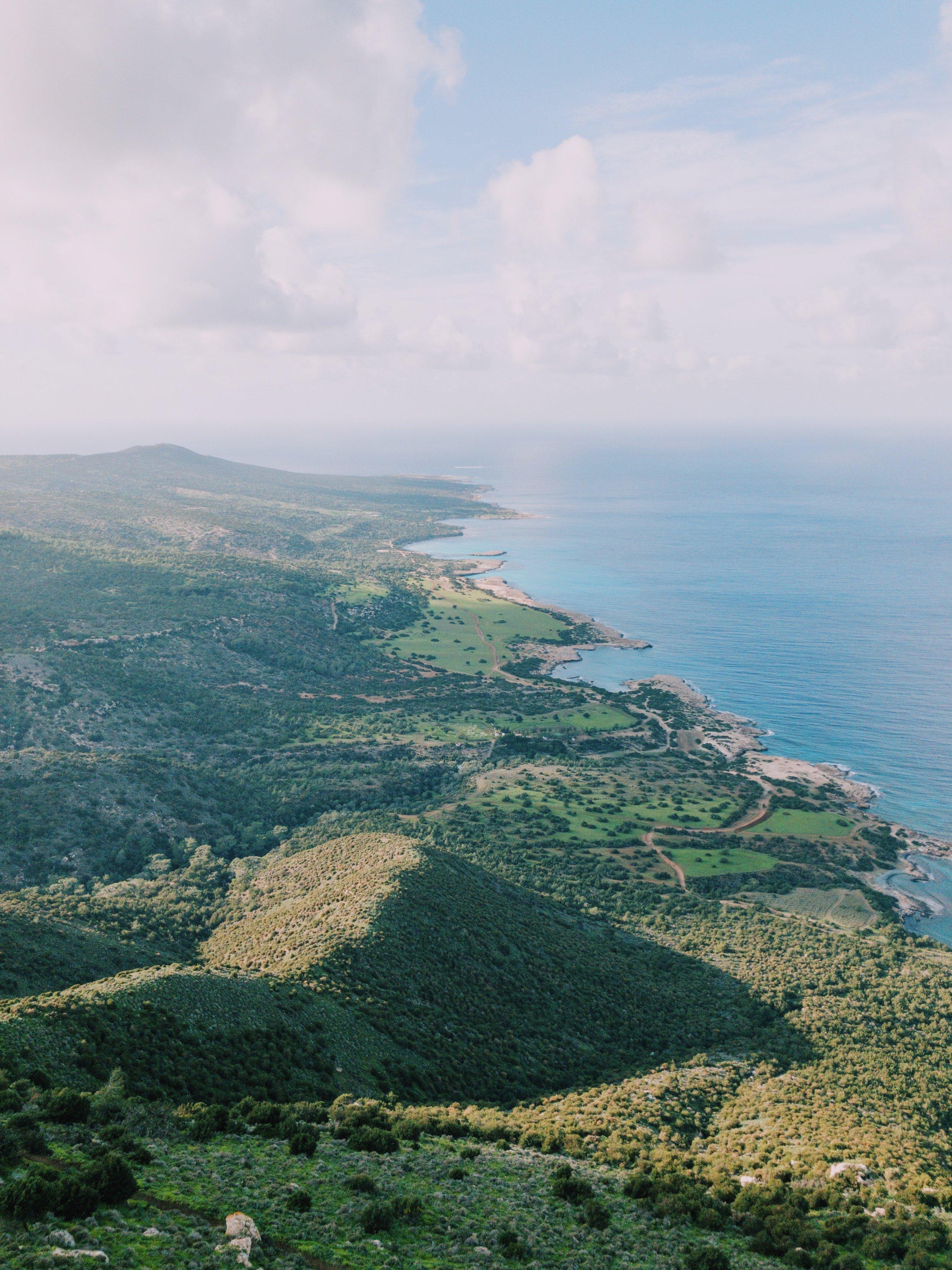 The view on Akamas Peninsula as seen from the peak of Moutti tis Sotiras.