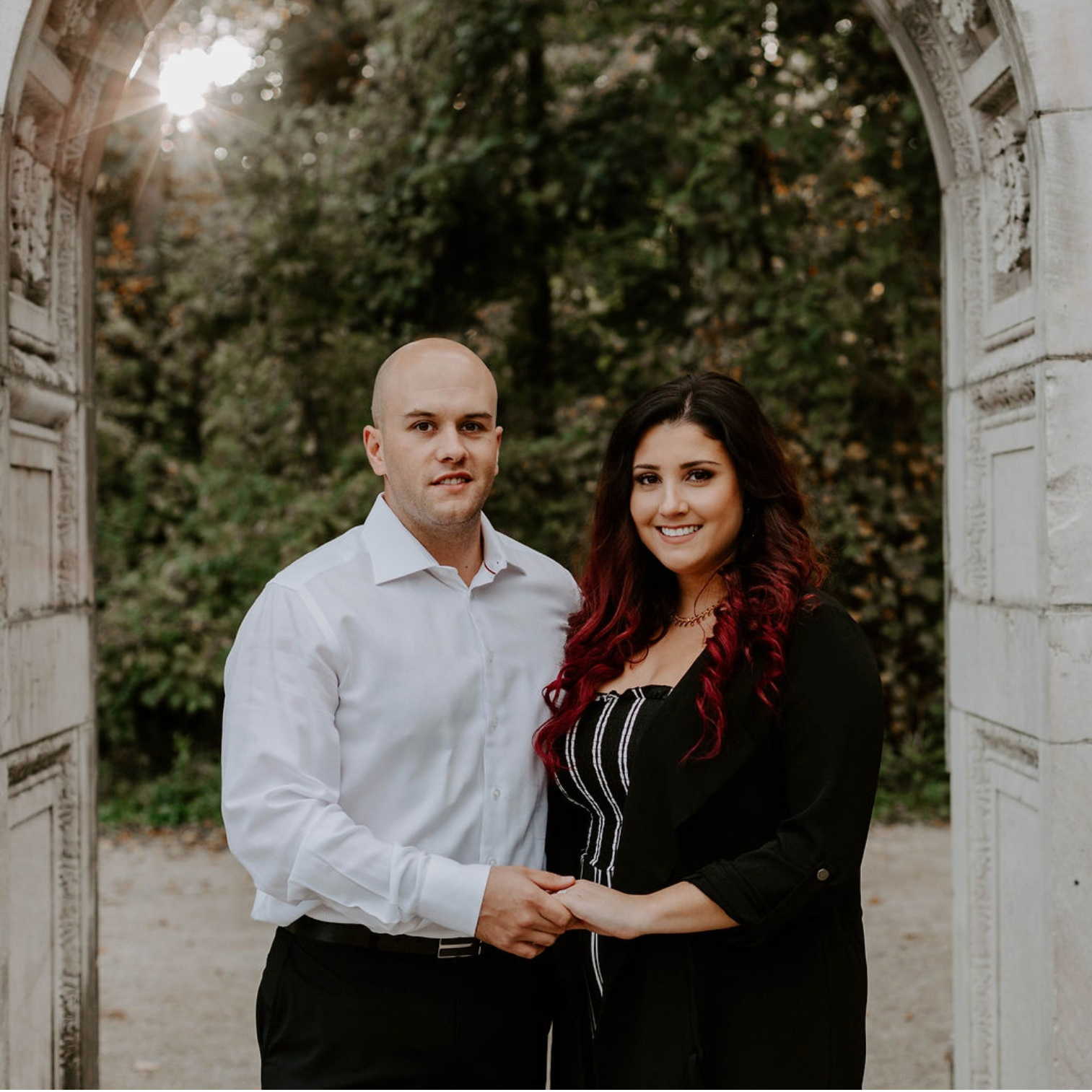 "Natasha & Mike - ""Cassandra was a pleasure to work with!! She is so sweet and professional and has an artistic eye for photography. We absolutely LOVE our engagement pictures and couldn't wait to show them off. Thank you so much for everything! I highly recommend her services!"""