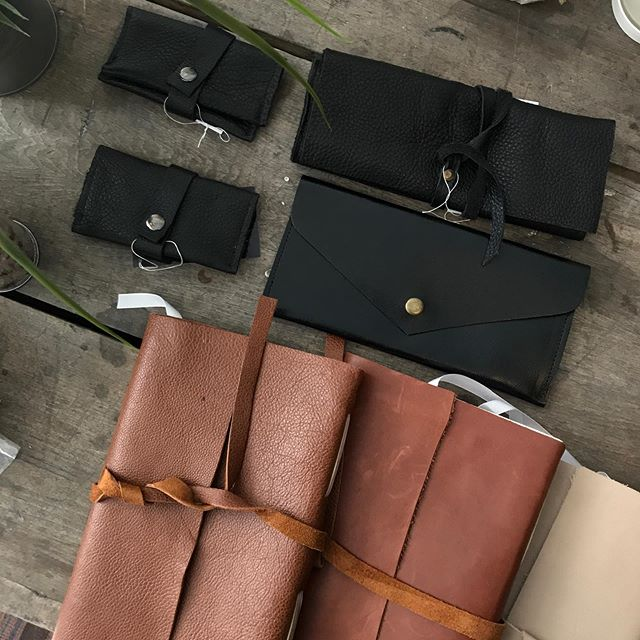 Leather, leather, and more leather! Fine + rustic finishes and in an assortment of colours...write your new story in these stunning handcrafted, bound and finished journals or treat yourself to a new coin clutch + wallet.