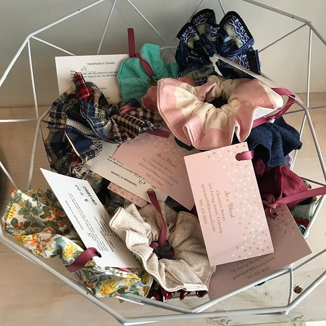 Scrunchies for all! So many styles to choose. The perfect little add on to a gift or collect them all! Created by @_inamood. Visit the shop  today between 11-4 and discover more from this talented maker!