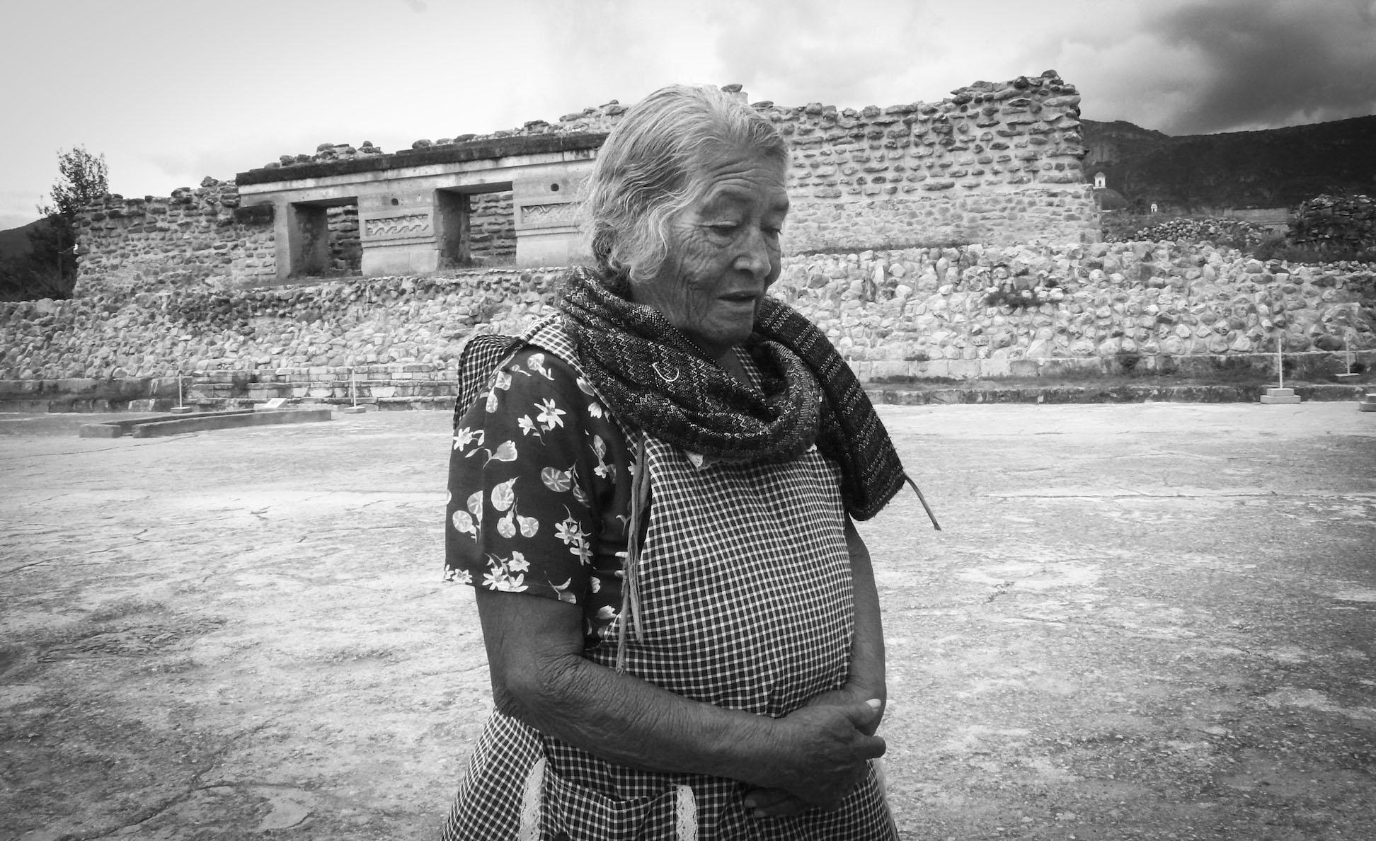 Woman at Ruins