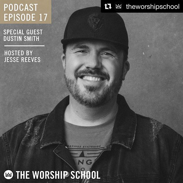@herebedustin hitting up @theworshipschool podcast! Great convo with our friend @reverendreeves #podcast #worship ・・・ You don't want to miss this episode!! 🙌🏼 // Listen in on this encouraging conversation between @reverendreeves and @herebedustin // Link in bio 🎉