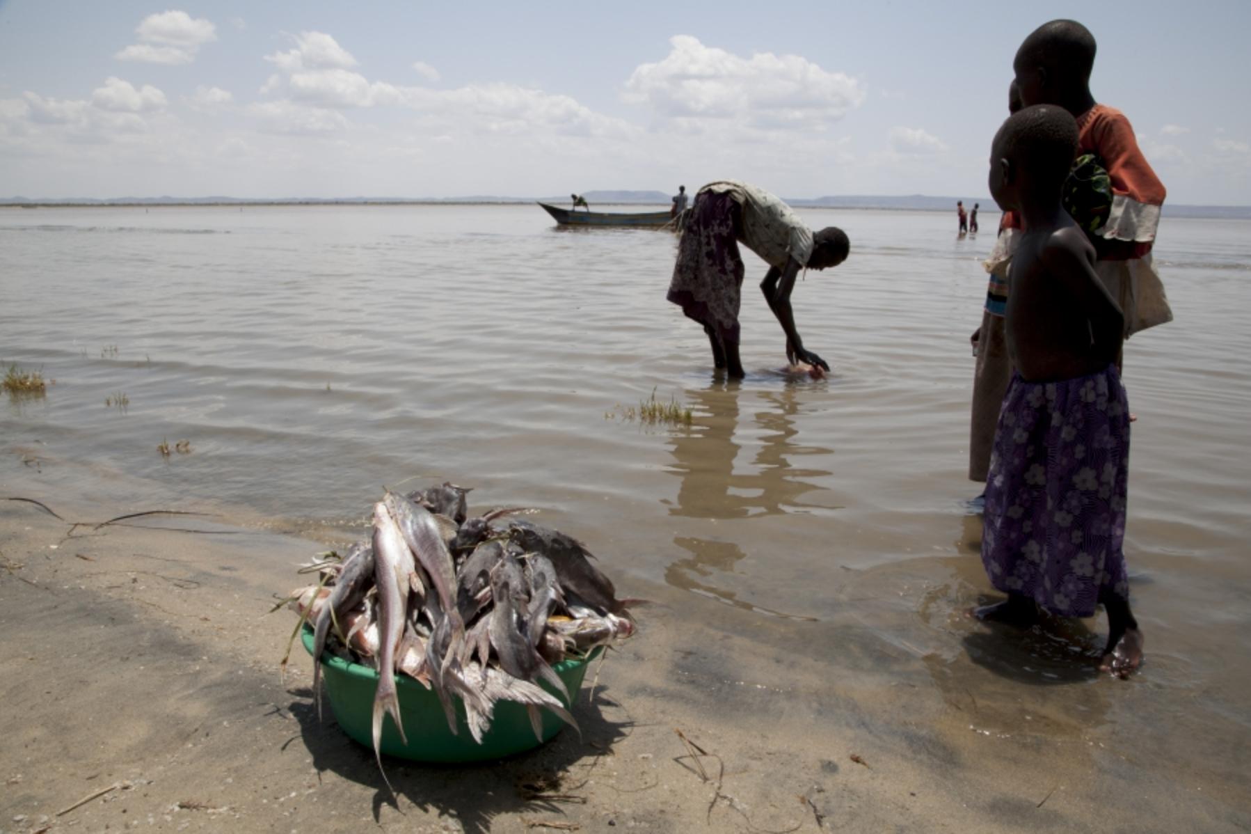 Fishermen at Lake Turkana  © photograph by Jane Baldwin