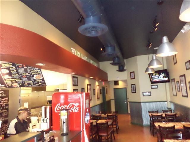Scope: Interior wall/ceiling metal framing, drywall install, drywall finish.