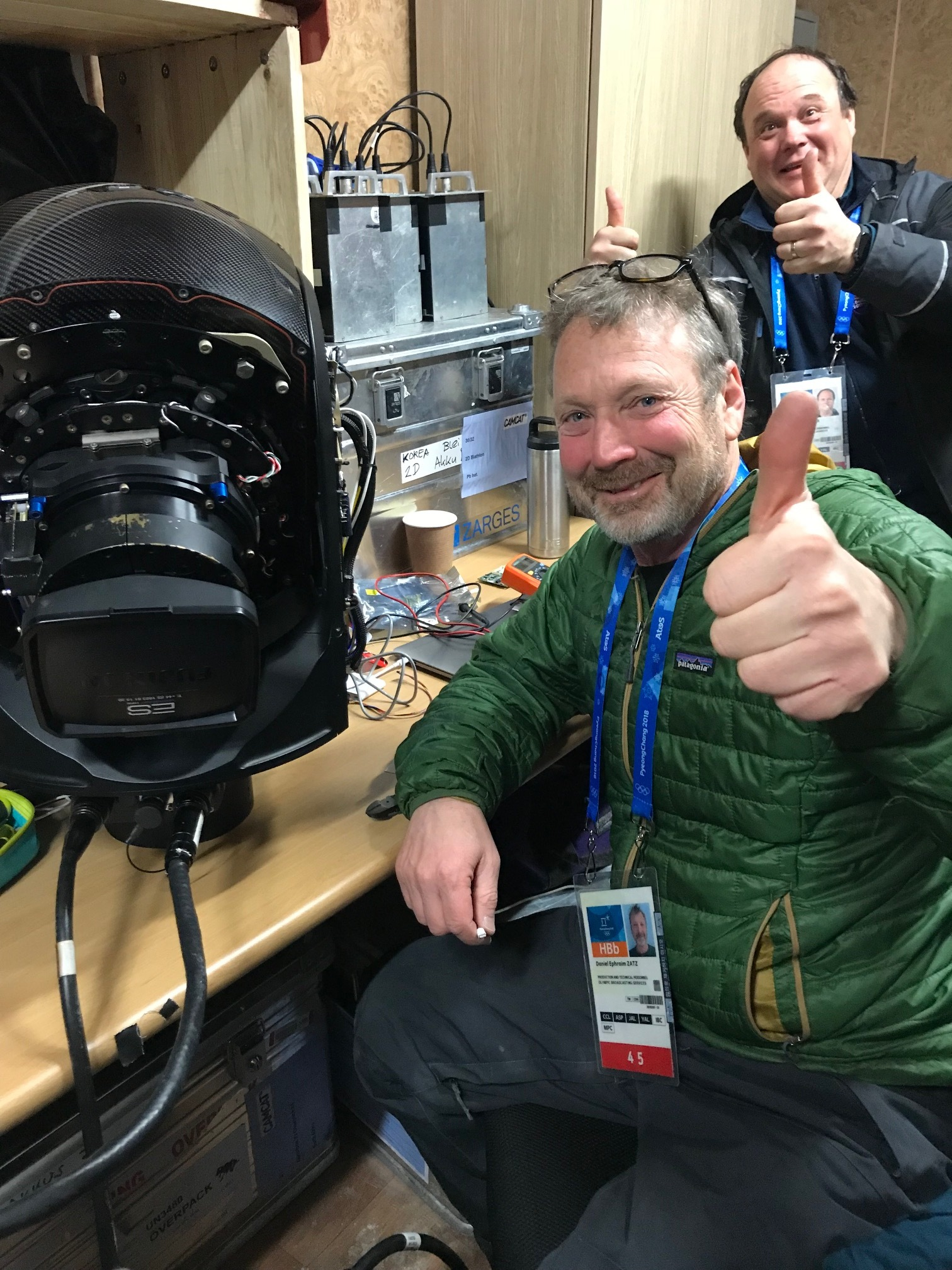 Bringing gimbals back to life for Camcat at the 2018 Winter Olympics.
