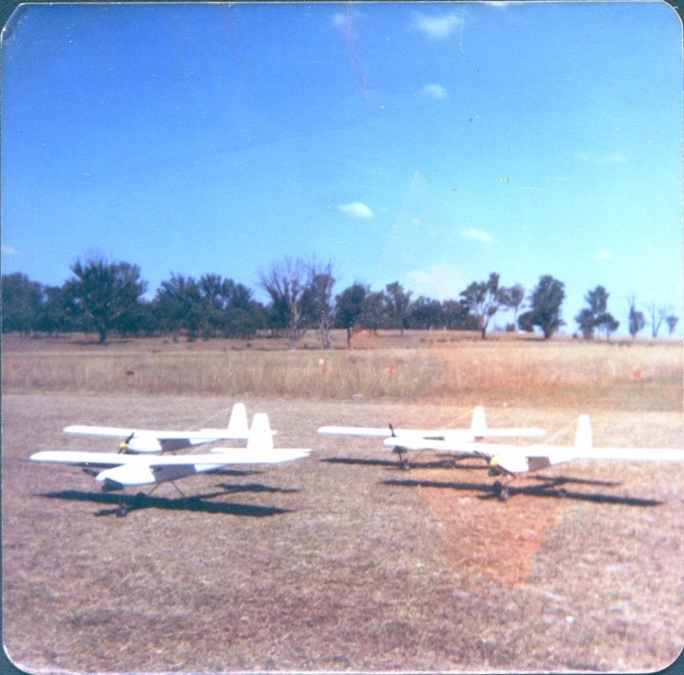 Silvertone Falcon A trainer/target aircraft c1988. Part of a batch of 12 made for the Australian Defence Force. A more conventional trainer/target.