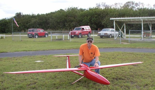 Dave Jones with his Flamingo on the Valkeries field, Florida c2008.