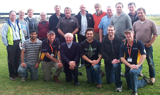 Class of 2011. CASA trial UAV training course participants including both students and instructors.