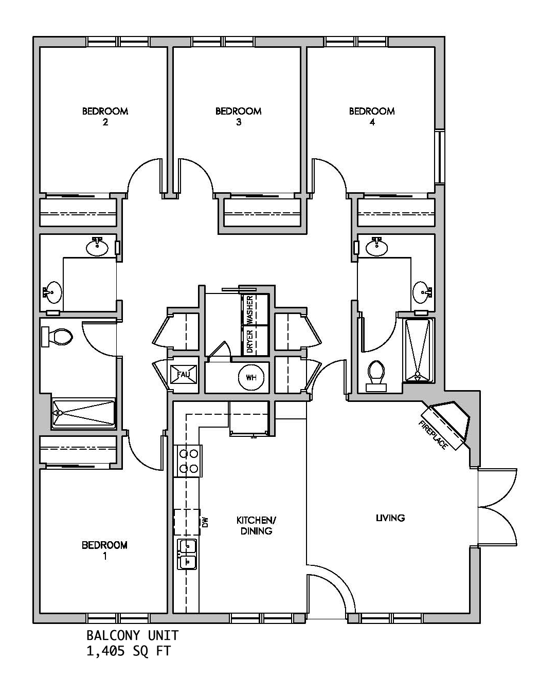 Schematic of a Standard Unit at The Cottages Provo