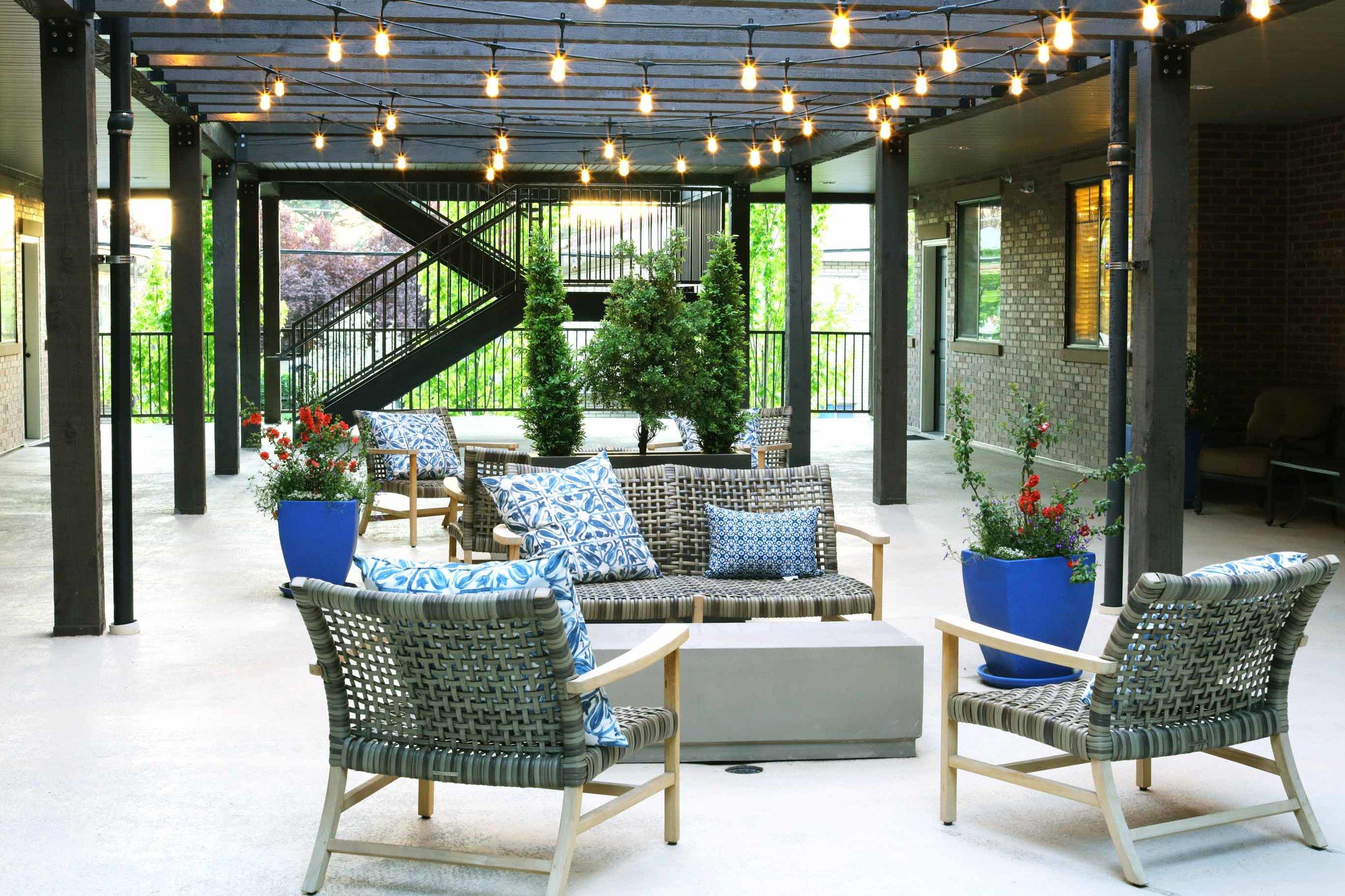 Courtyard gathering spot