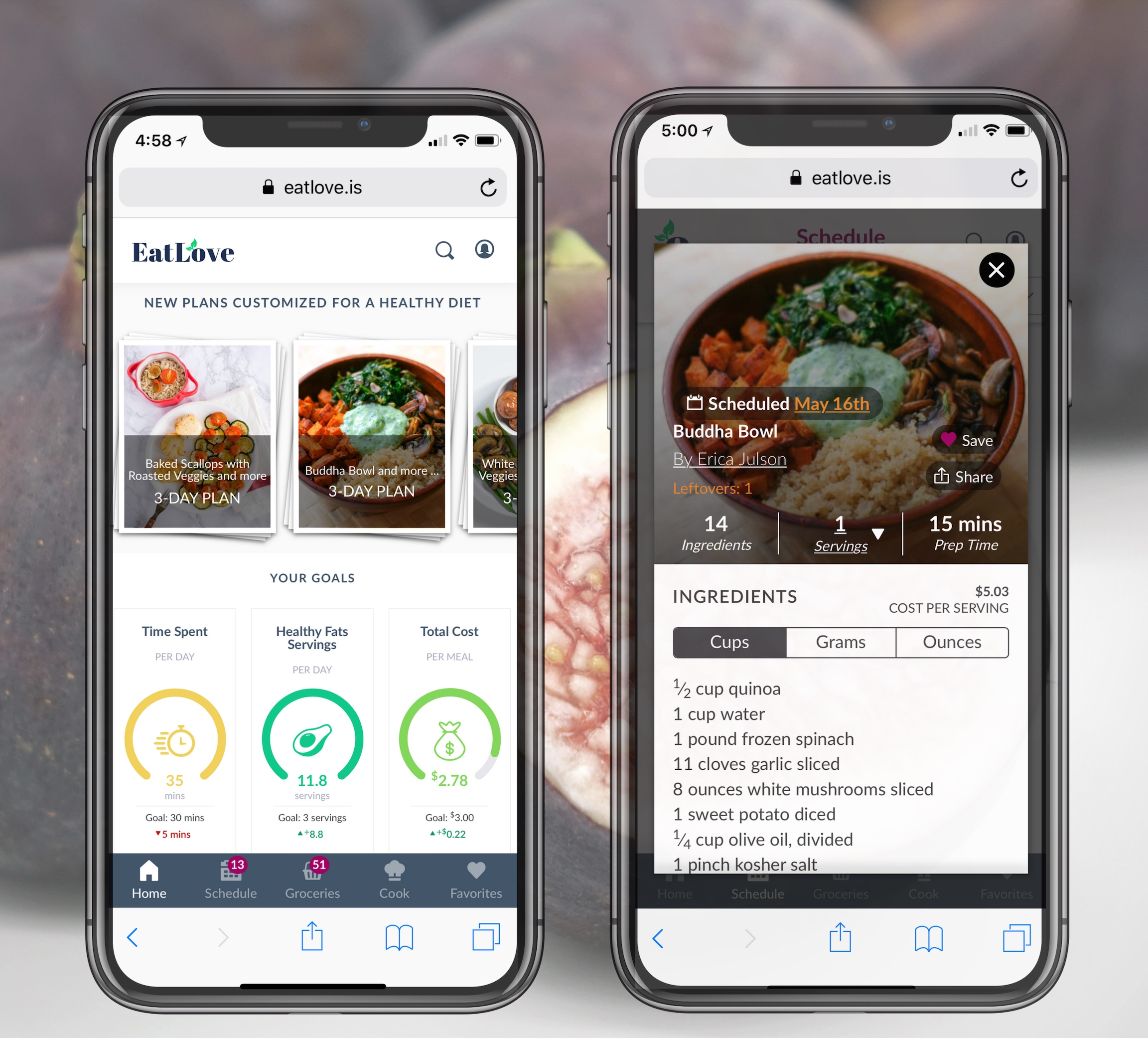 personalized meal plans - Personalized, customizable, weekly meal plans for 1-7 days. Meal plans tailored by Lara with the ability to swap out thousands of recipes - this meal planning software takes into consideration your macronutrient needs, cooking skill, family members, and food preferences. Get instant grocery lists for your weekly meal plans and easy to follow recipe cards.