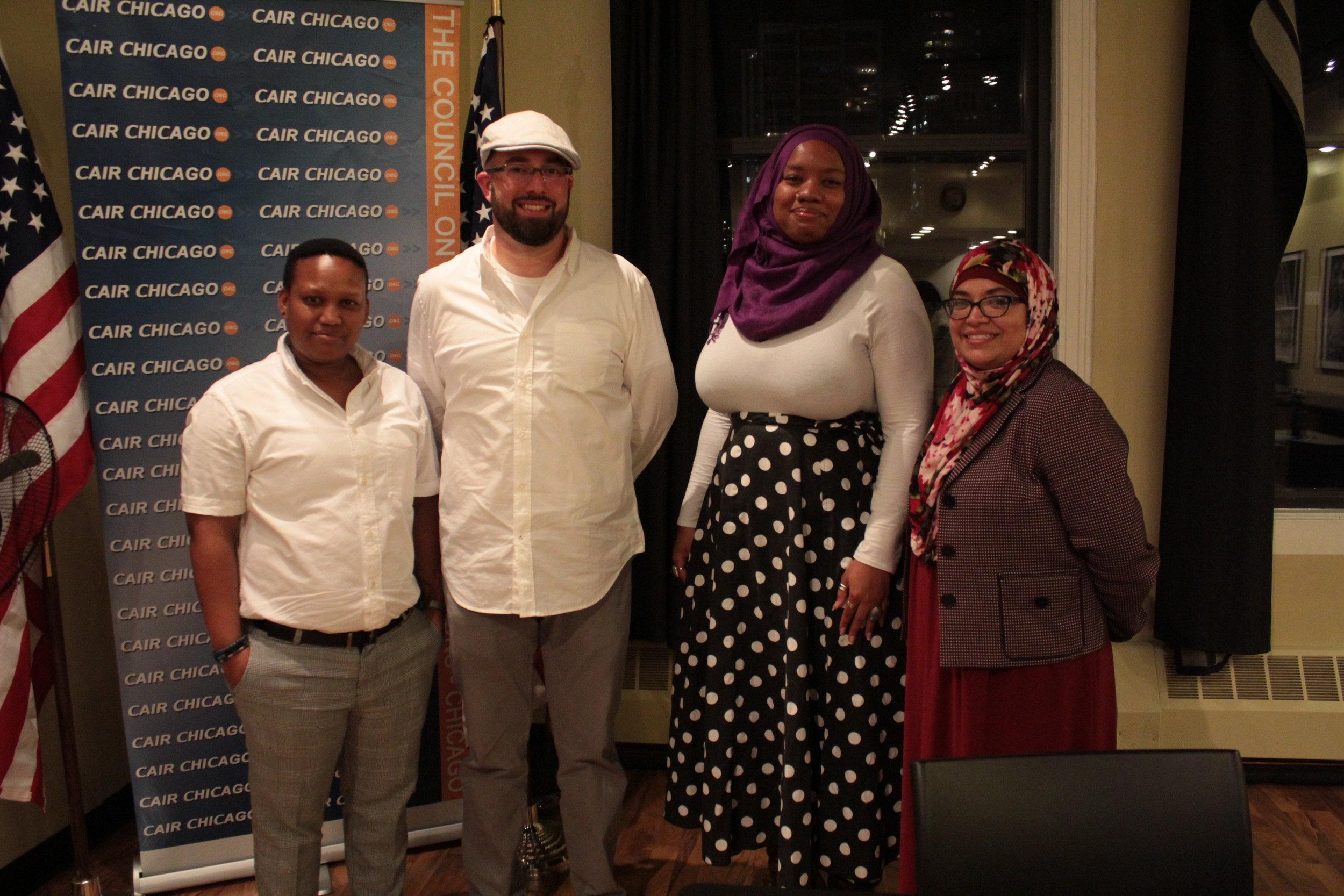 (Left to Right) Mandela Fellow Lesego Thwale, Aaron Siebert-Llera Esq, Zaynub Shahar, Diana Cruz