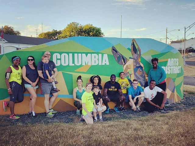 What a beautiful evening to run the Arts District!! CAB Run Club meets Tuesdays at 5:45pm on level 3 of the @columbiaartsbuilding. You don't want to miss this community run!! #columbiaartsdistrict #keepingthecommunityfit #midsouth5fit #steeleathletes #cabmovement #expierencemaury #mycolumbiatn #muletown