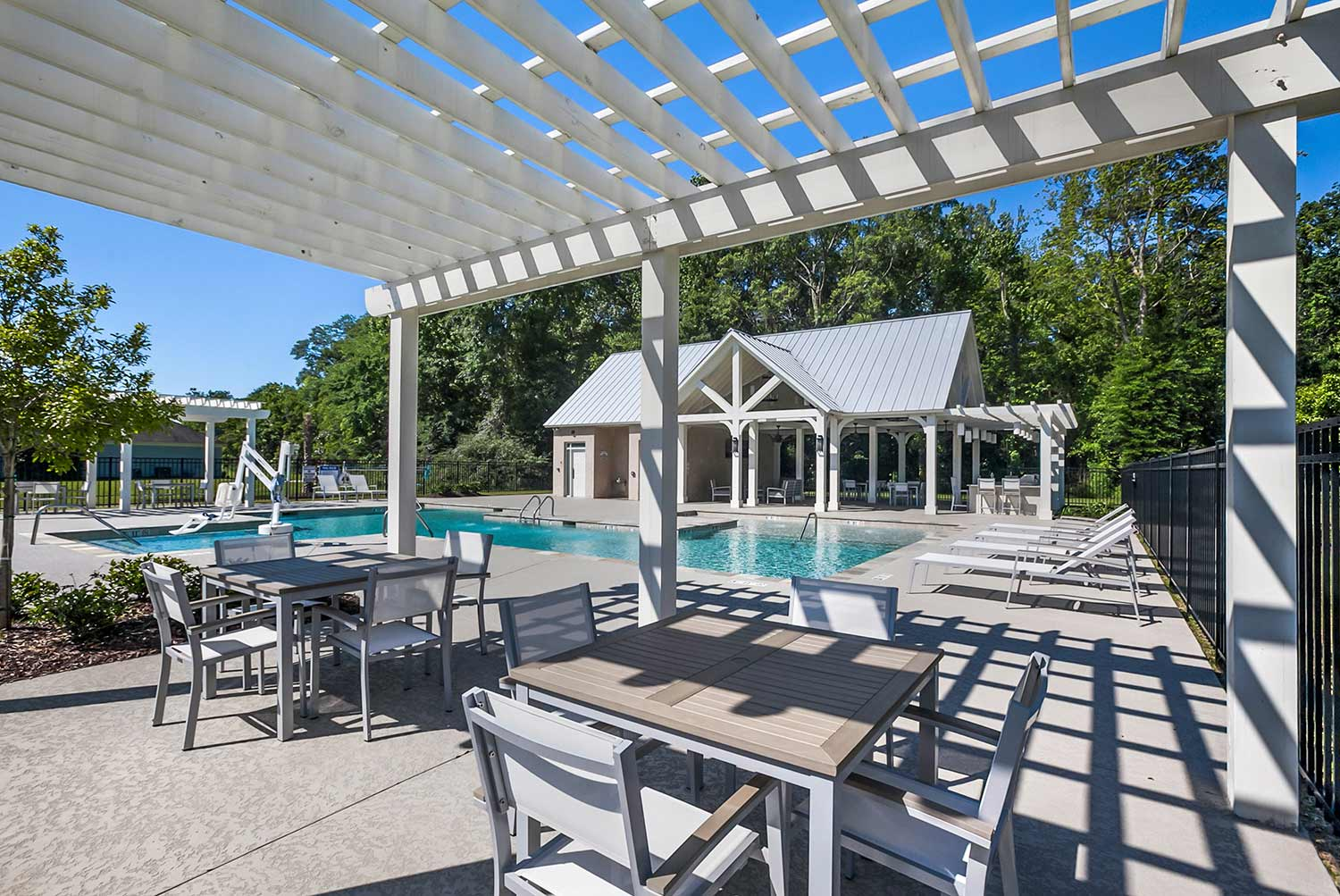 Pool & Pavilion - The picturesque pool and spacious deck allow plenty of room for friends and family to gather.