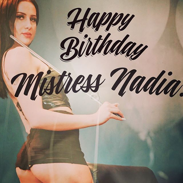 Happy Birthday to Mistress Nadia!  Bow to the Birthday Queen 4:30pm-midnight! 🎉🎈🎊