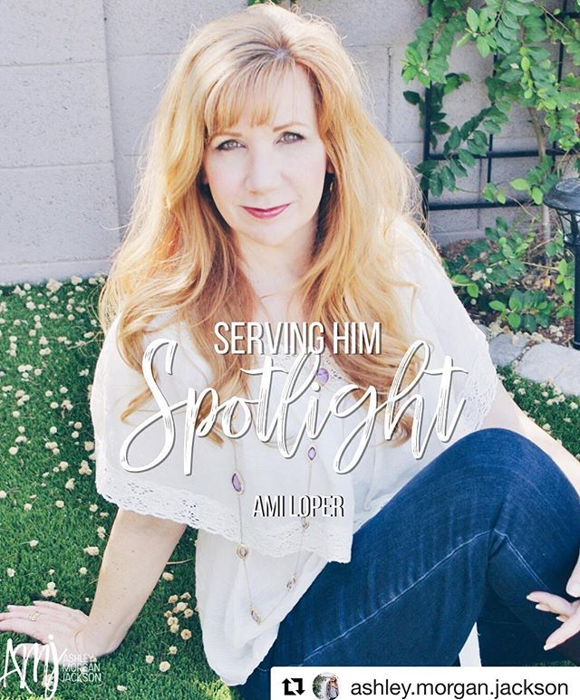 """So honored to be featured on the """"Serving Him Spotlight"""" by @ashley.morgan.jackson today! Read the full interview on Ashley's page - the LINK is in HER BIO! #Repost @ashley.morgan.jackson with @get_repost ・・・ Serving Him Spotlight is a way for us to get to know and support other awesome women serving the Lord in this social media space! Today is @amiloper 🙌🏼♥️ Be sure to leave her some love! • Tell us about you! Your name, where you are from, about your family, etc. • My name is AmiLoper. My husband, Tim, and I live in the Phoenix area. We have three amazing adult daughters and six beautiful Grands – and I'm only forty-six! But that's what happens when you get pregnant with your first child at fourteen years old – now that's a long, hair-raising story of God's love, grace and redemption! • What do you think is the greatest struggle facing Christian women today? • I'm sure we've all seen the saying, """"Comparison is the thief of joy."""" I recently saw it restated as, """"Comparison is thief of everything!"""" It's a catchy phrase, but I think it is a process to understand just how true it is. Comparison robs us, not only of our joy, but our willingness to step out and do what we were created for. That means comparison is stealing our very lives! • When we see someone doing better, looking better, parenting better, being loved better, enjoying life better, there comes over us a malaise that speaks to our deepest fear, """"My life stinks. I give up!"""" Since comparison is a thief, we need to guard our hearts against its infiltration. We need to allow gratitude to stand guard, to let our God-given uniqueness hold the keys to our hearts and make celebrating the successes of others be our battle cry against comparison. • Read more of Ami's article on the blog (link found here @ashley.morgan.jackson ) #servinghimspotlight"""