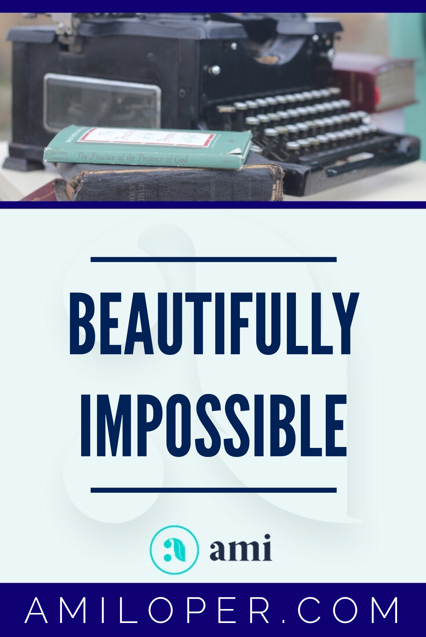 Have you ever felt stuck? - just absolutely wedged between the impossibilities of life? Look out! Something beautiful happens when everything feels impossible! #impossible #feelingStuck #ChristianBlog