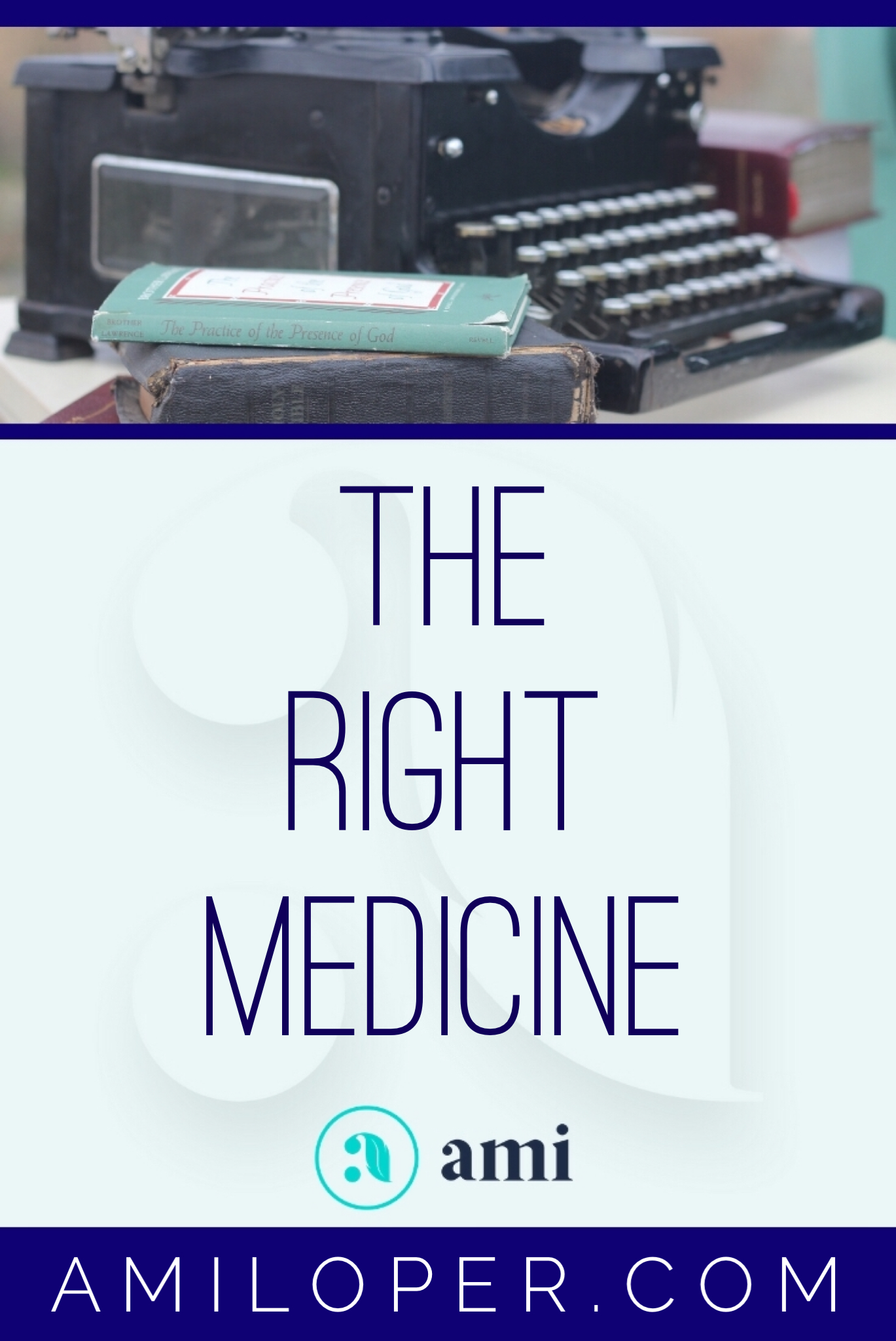 """Feeling out of sorts? The Lord knows better than you do what the core issue is and what will cure it. We may run to good things to try to find relief, but unless it is the RIGHT thing, we may be taking the wrong """"medicine."""" #ChristianBlog"""