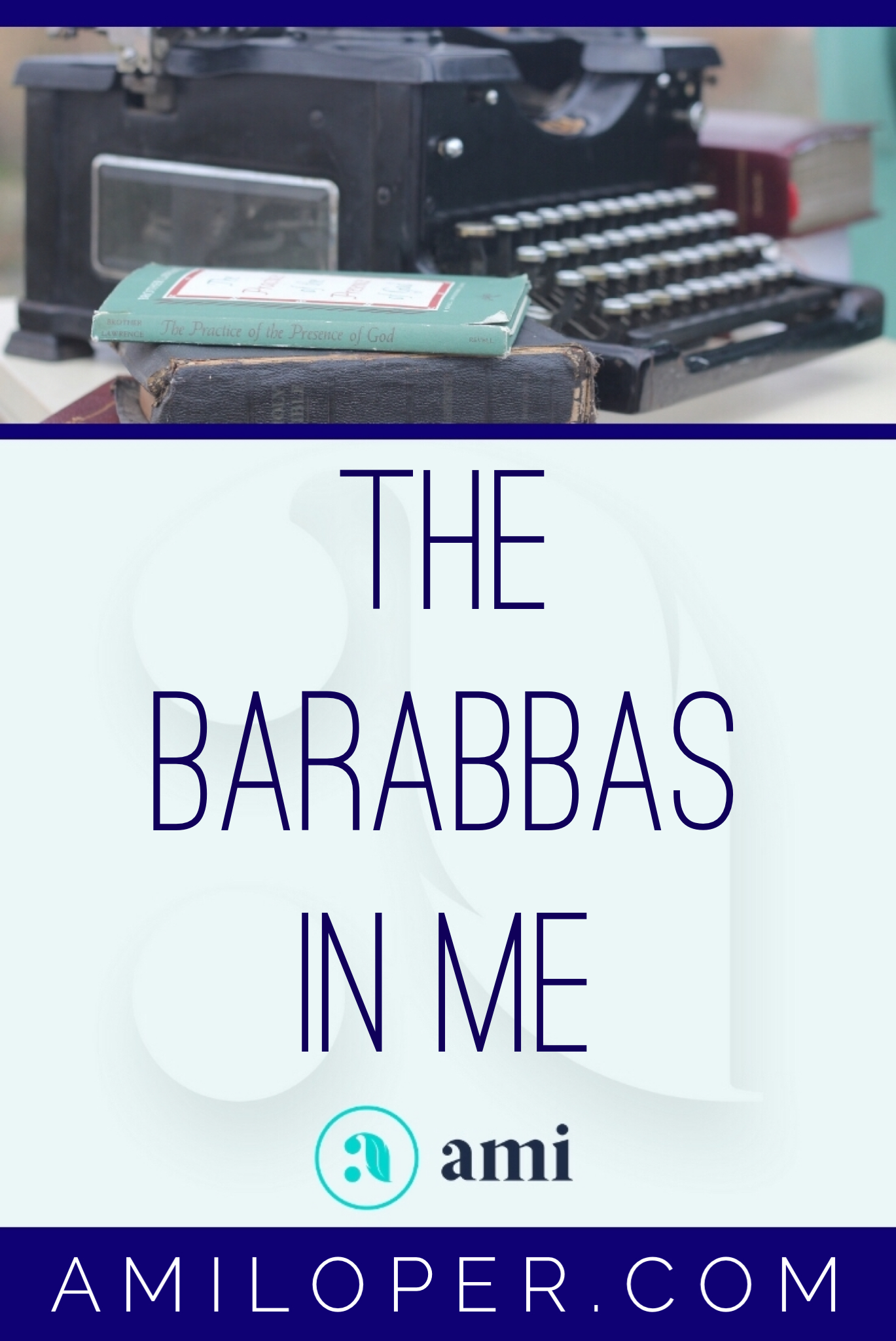 Barabbas. He's kind of a vague person in history. All we really know is that he was released from prison, chosen to be freed by the people while Jesus was crucified. But there is a Barabbas in me, in all of us... #EasterSunday #Resurrection #ChristianBlog