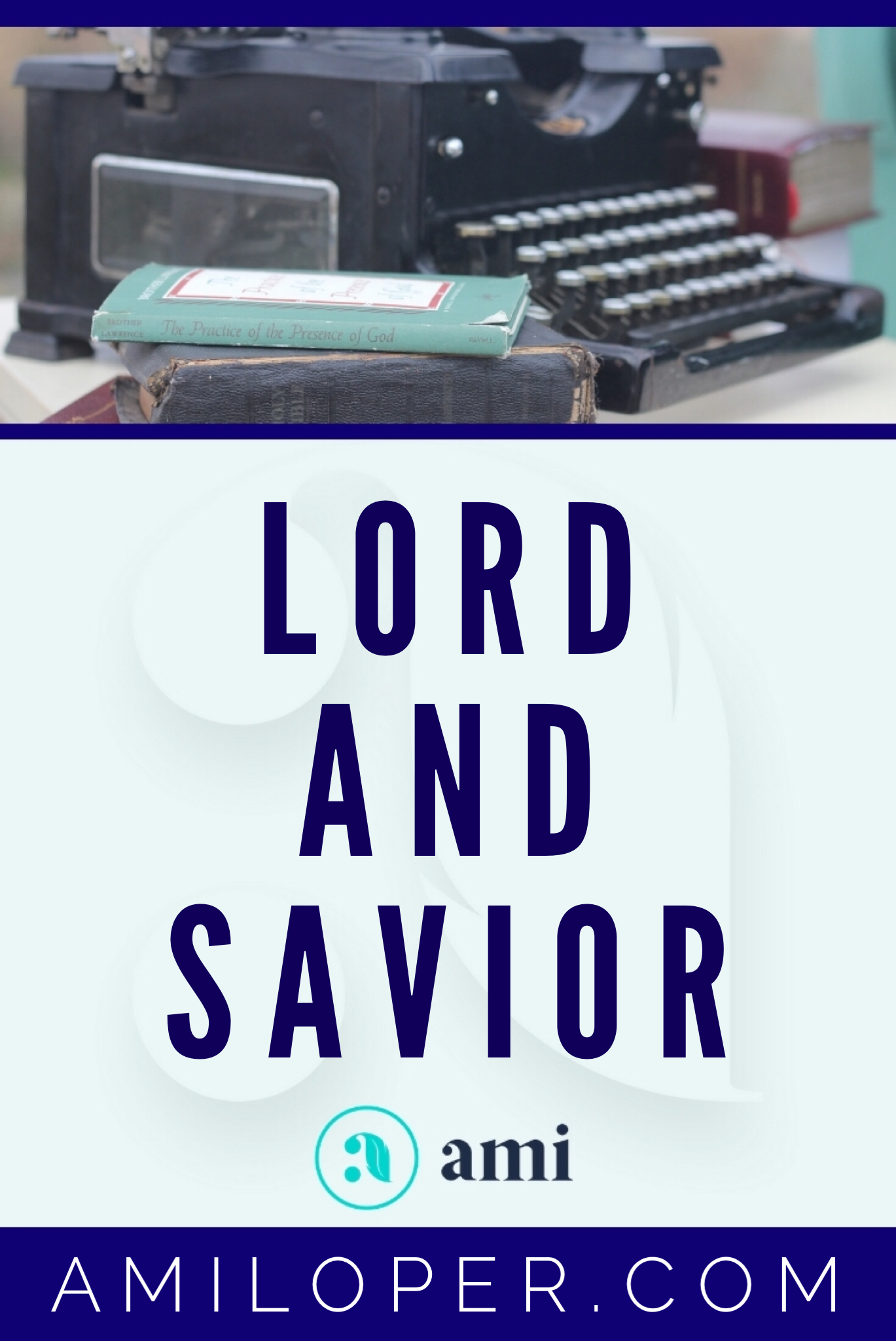 """We talk about Jesus being our """"Lord and Savior,"""" but is He actually both to us?   #JesusSaves #ChristianBlog"""