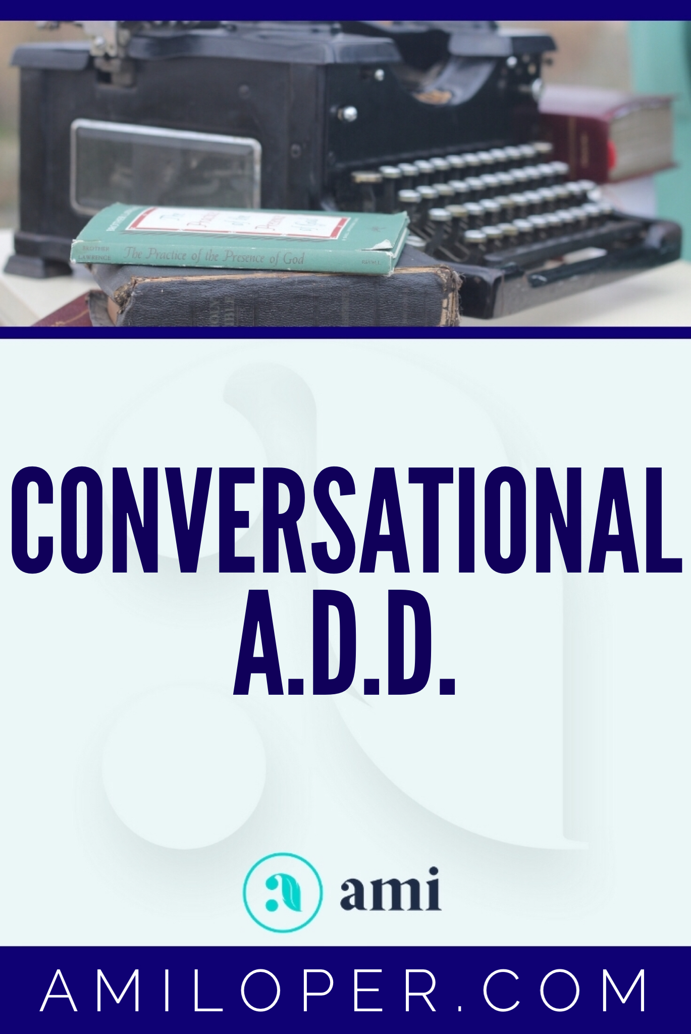 "Do you have ""Conversational ADD"" -- trouble focusing on the voice of the Lord while you're in prayer? I do!   #prayer #ChristianBlog"