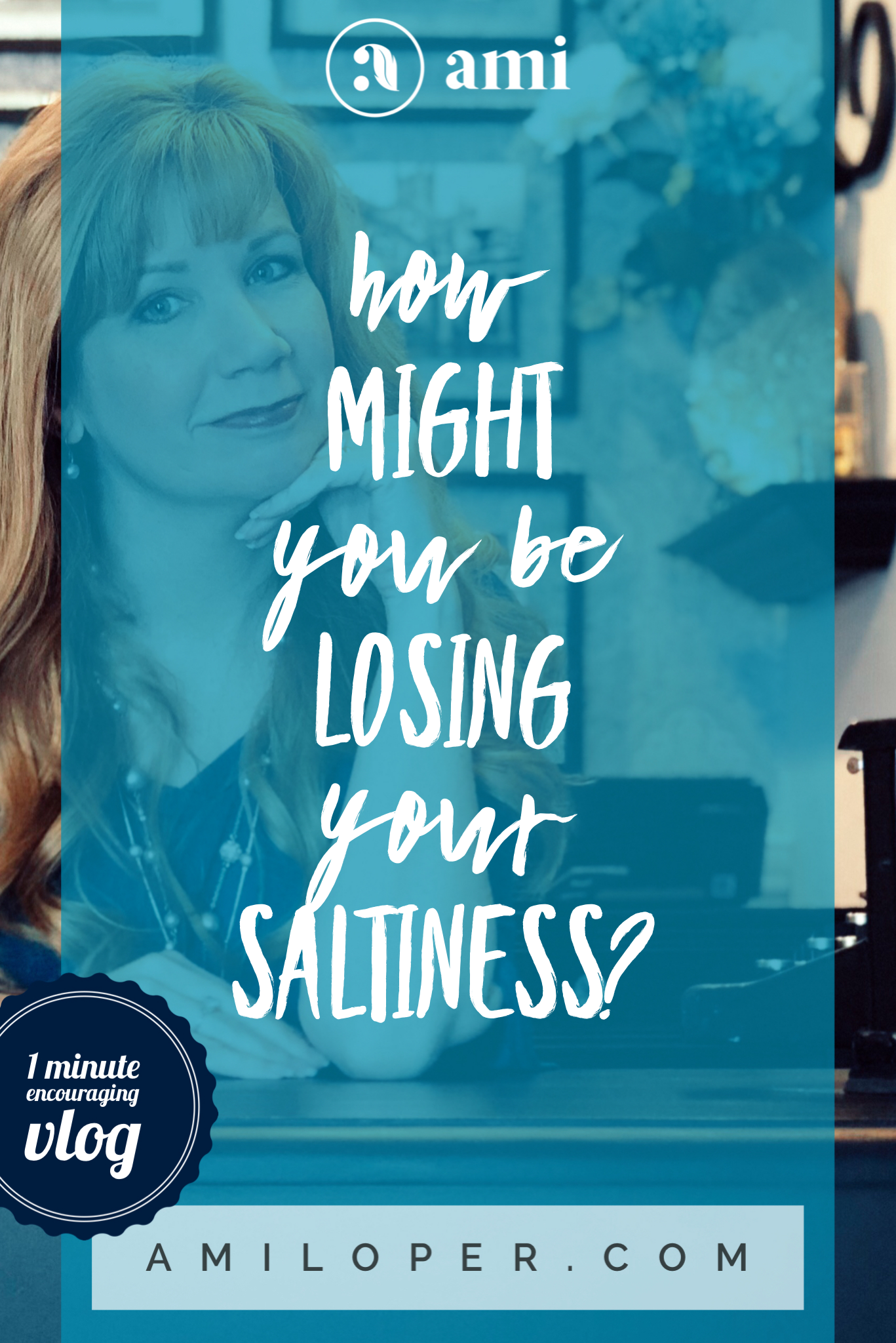When Jesus says we need to be the salt of the earth and not lose our saltiness, what is He telling us? How can we lose saltiness? #Vlog #StudyingTheBible #SaltOfTheEarth