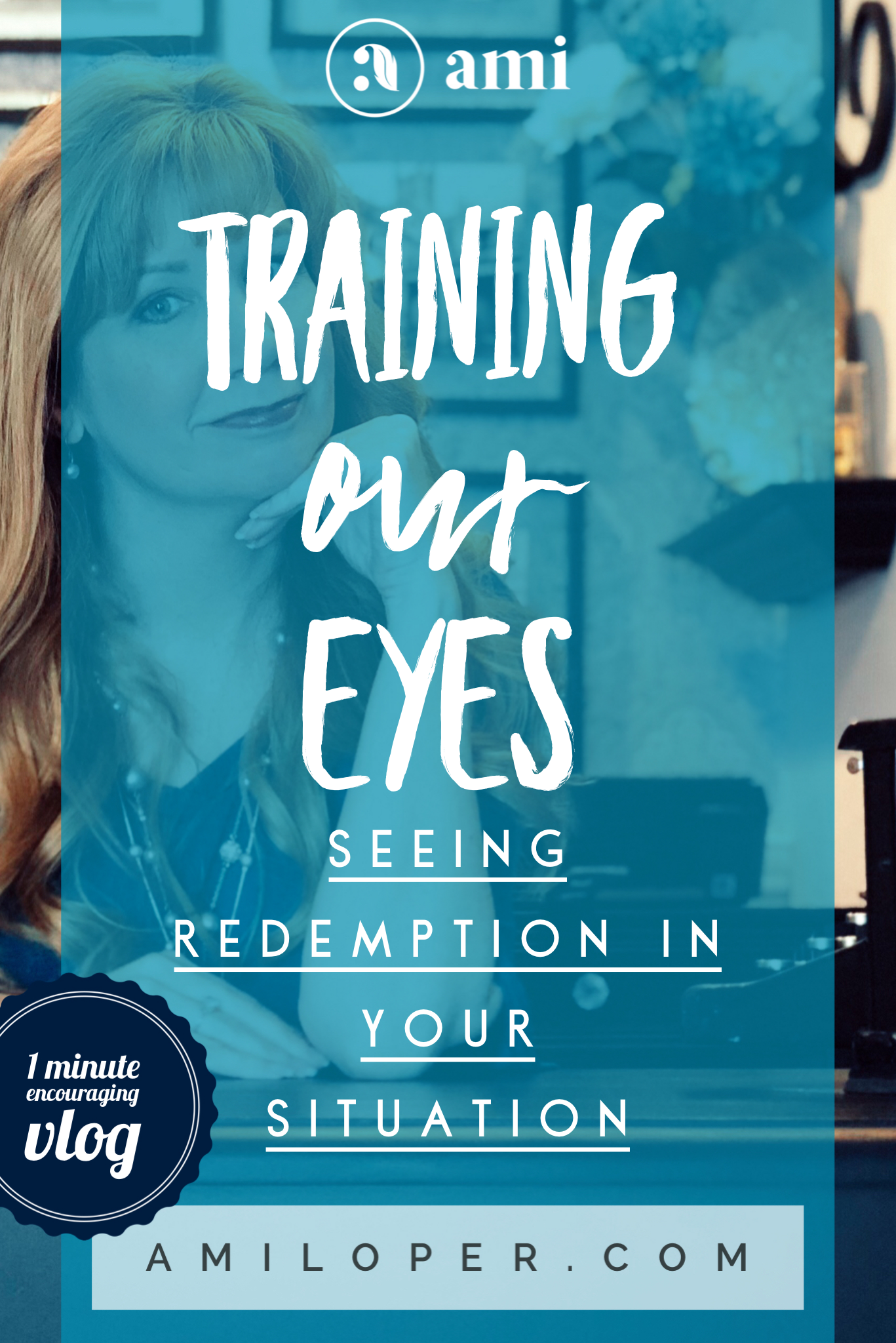 Want to be able to see God's redemptive hand in your situation? Here's a secret I've learned that helps me see Him more clearly at work in my trials. #Redemption #GodsPlan #ChristianVlog #Encouragement #inspiration