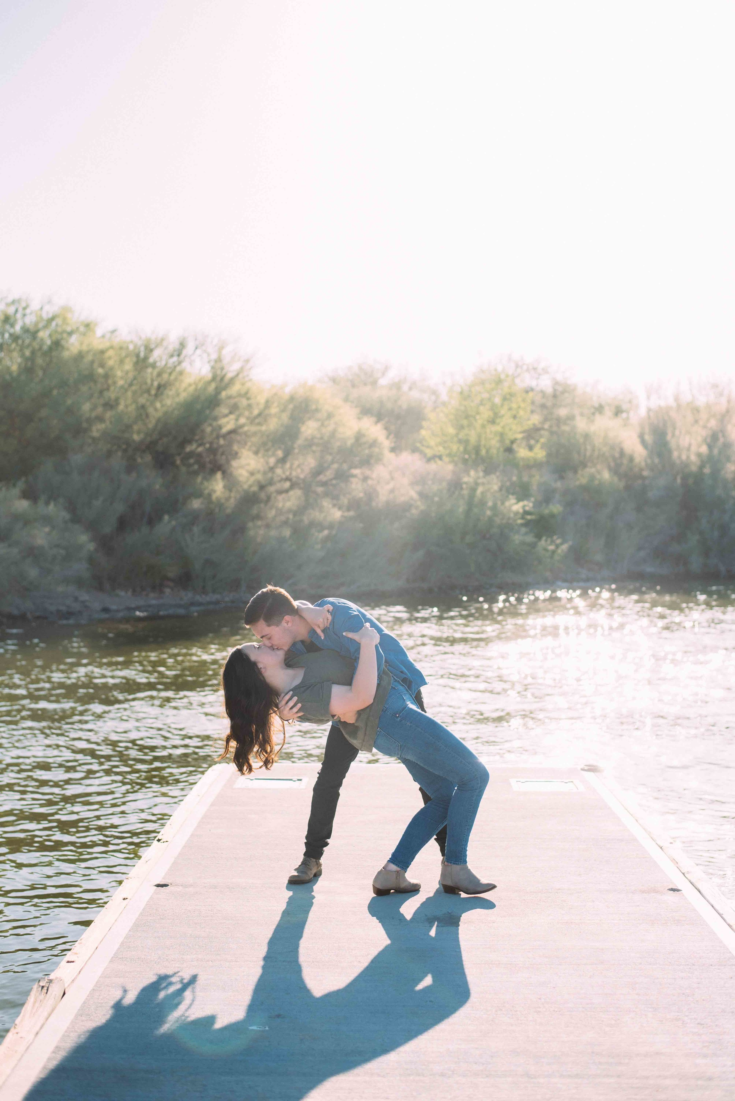 Saguaro Lake Arizona Engagement Photo