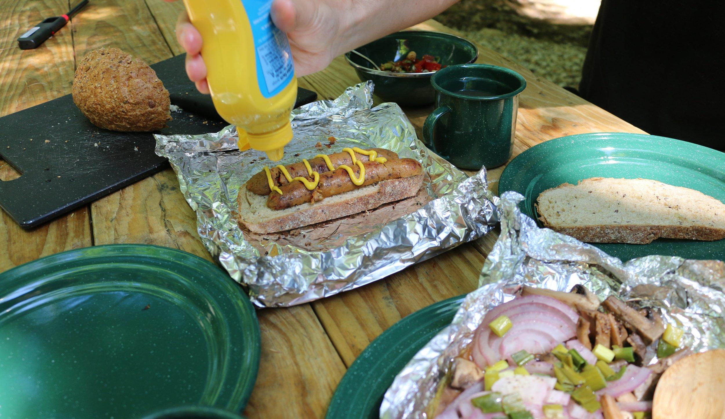 Sandwich aux saucisses Field Roast