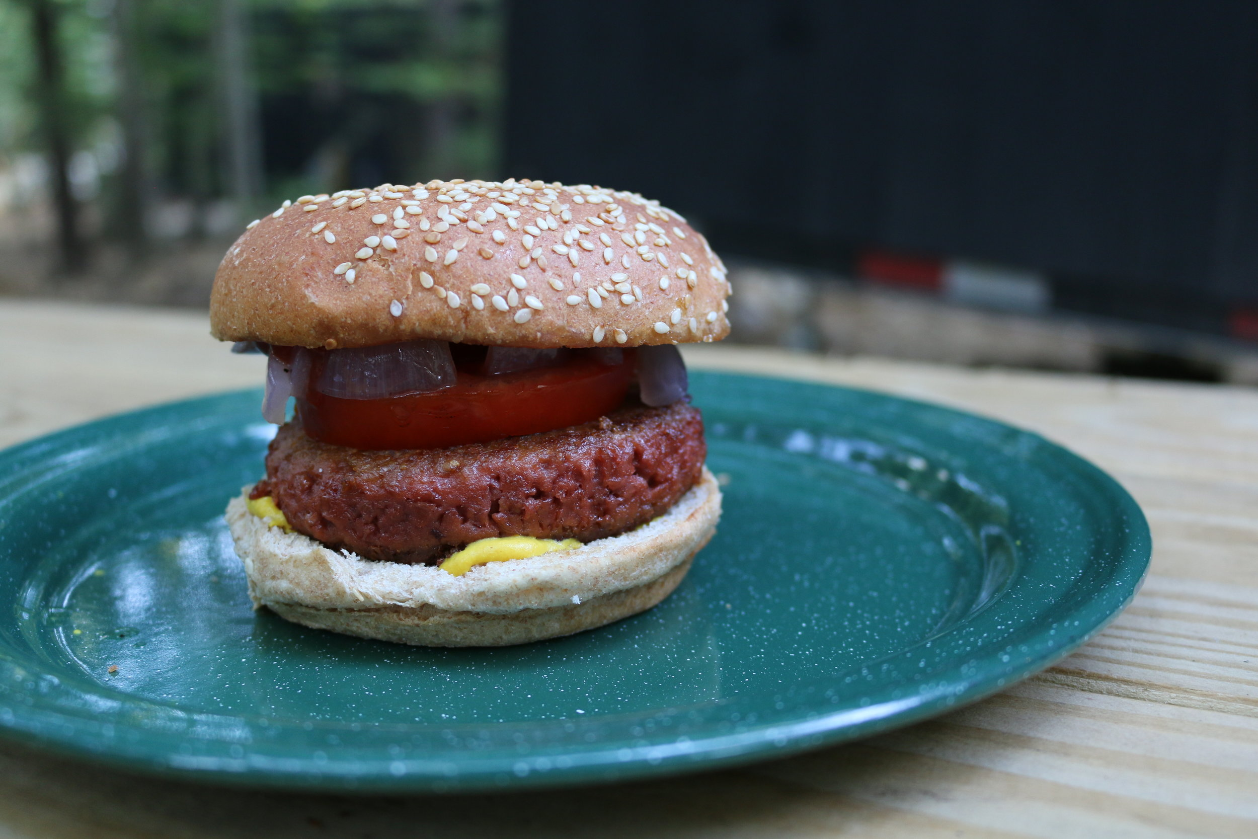 Burger with Beyond Meat patty