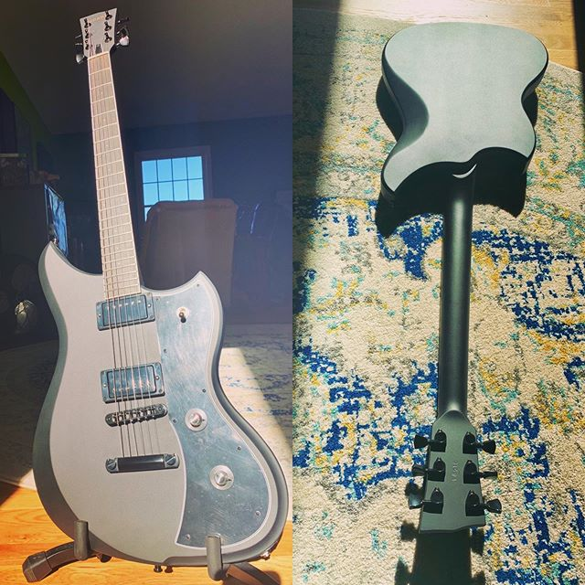 "Scooped this @dunable_guitars ""Murder"" Yeti from @musicstorelive last week, and I'm stoked to start riffin' out on it!  There really is no good excuse not to own a Dunable! #guitar #newguitar #dunableguitars #yeti #gridband #flatblack #6stringguitar #progressive_metal #instrumentalband #sludge #doom #ambient #epic"