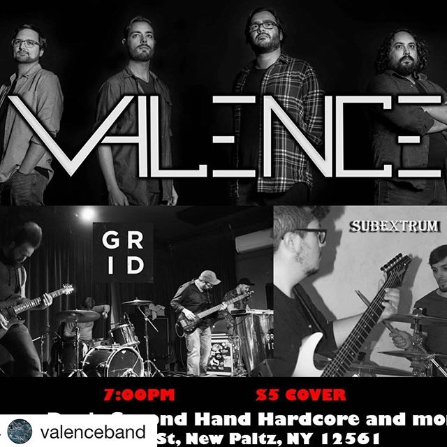 Come on out to Crazy Dan's in New Paltz tonight, for a good show!  #gridband #valence #newpaltz #newyork #progressive #instrumental #metal #music #localmusicscene #support #hudsonvalley