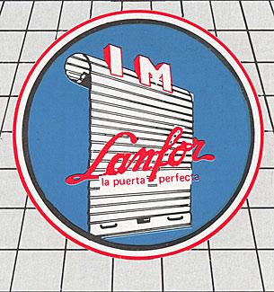 El primer logo de Lanfor.
