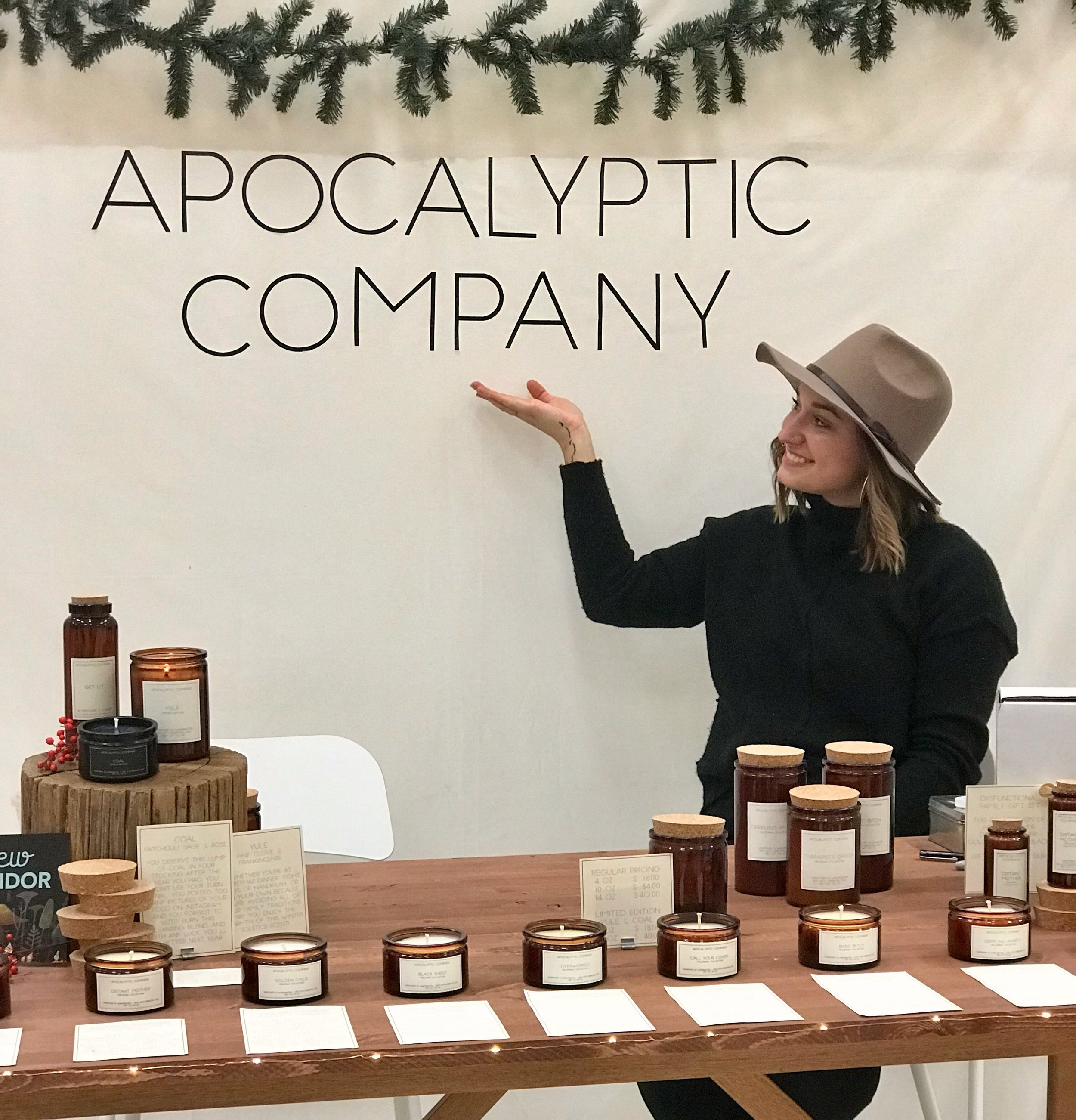 Nicole at our urban craft uprising's 2018 winter show in seattle.