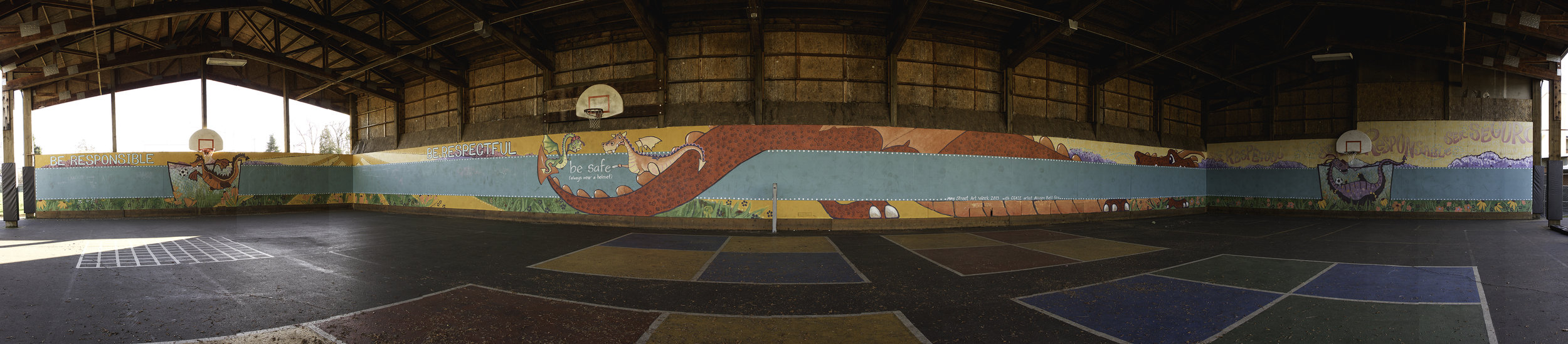 Panorama of the shed