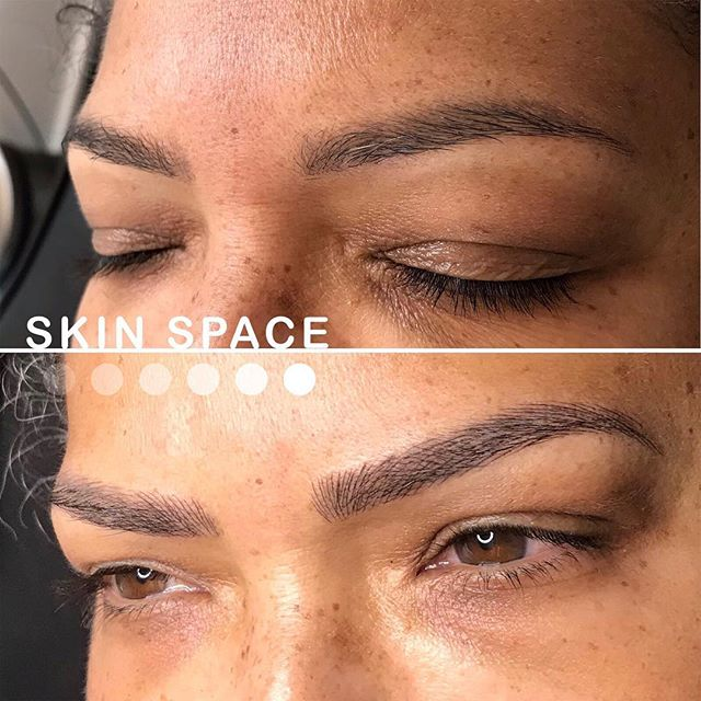 Can you believe the color match? I love taking the time to custom mix a tone that matches your natural brow hair and complements your skin tone. Find out more about microblading and book your appointment today at www.skinspacepmu.com . . . . .  #inmybag  #abundance #prosperity #manifestation #love #constantchange #exponentialgrowth #bossbabe #blackbusiness #mompreneur . . . . . .#microblading #microbladingla #eyebrowtattoo #medspa #motd #browtransformation #featherbrows #featheredbrows #browlift #hermosabeach  #redondobeach #hermosabeachpier #hermosalocal  #wakeupandmakeup #3deyebrows #manhattanbeach#longbeach#ombrebrows #hudabeauty #BrowEnvy @bolt_production @allmodernmakeup @Wakeupandmakeup @hudabeauty @makeupgoals @fiercesociety @monakattan @nikita_dragun @_browsbyash @archaddicts