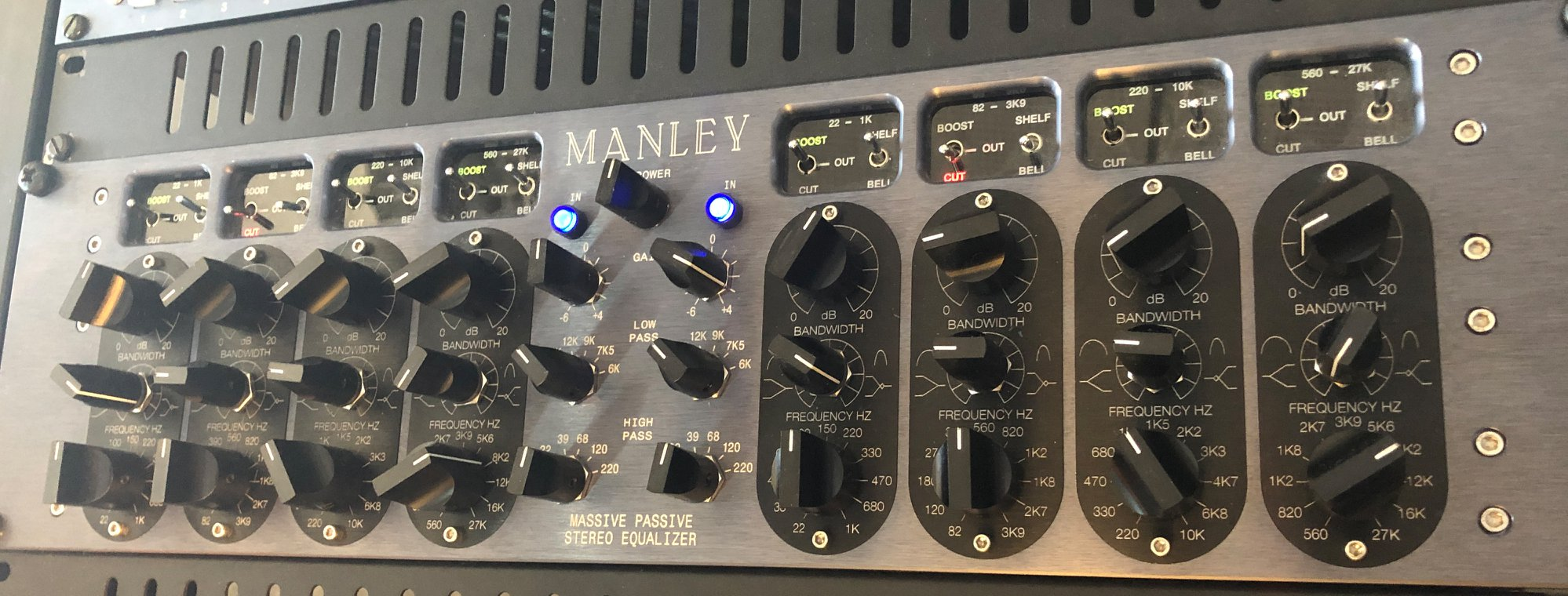 Manley Massive-Passive: A true legend of EQ´s. The low end, the mids, the heights. Everything sounds fantastic. Foto: privat