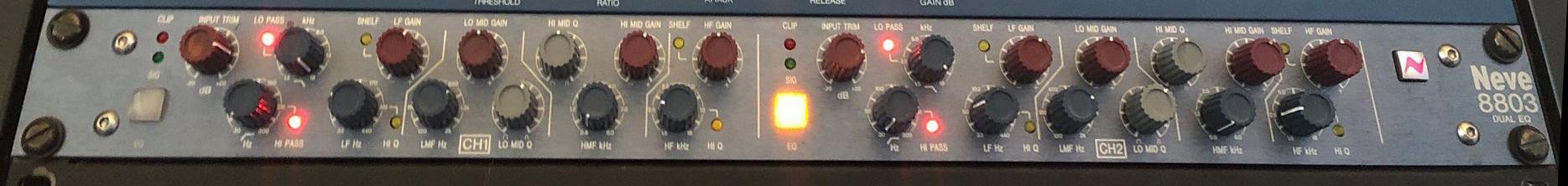 Neve 8803 EQ: Here´s the legendary NEVE sound. Foto: Privat